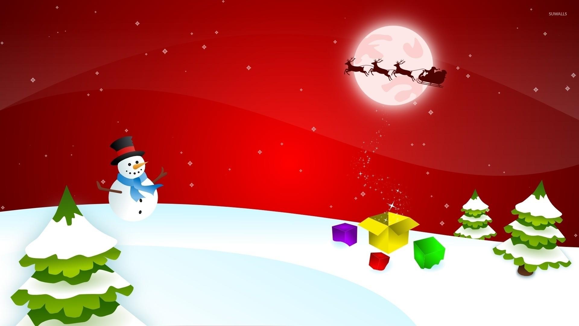 Santa Claus on the magical Christmas Eve wallpaper jpg