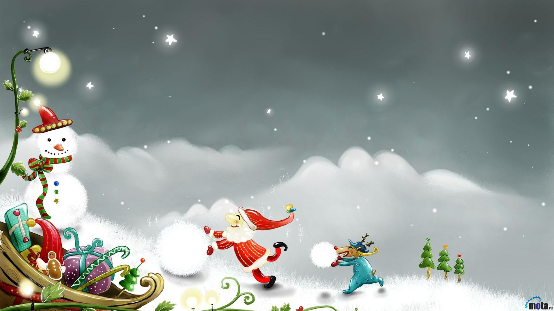 snow SANTA CLAUS IMAGES WALLPAPERS