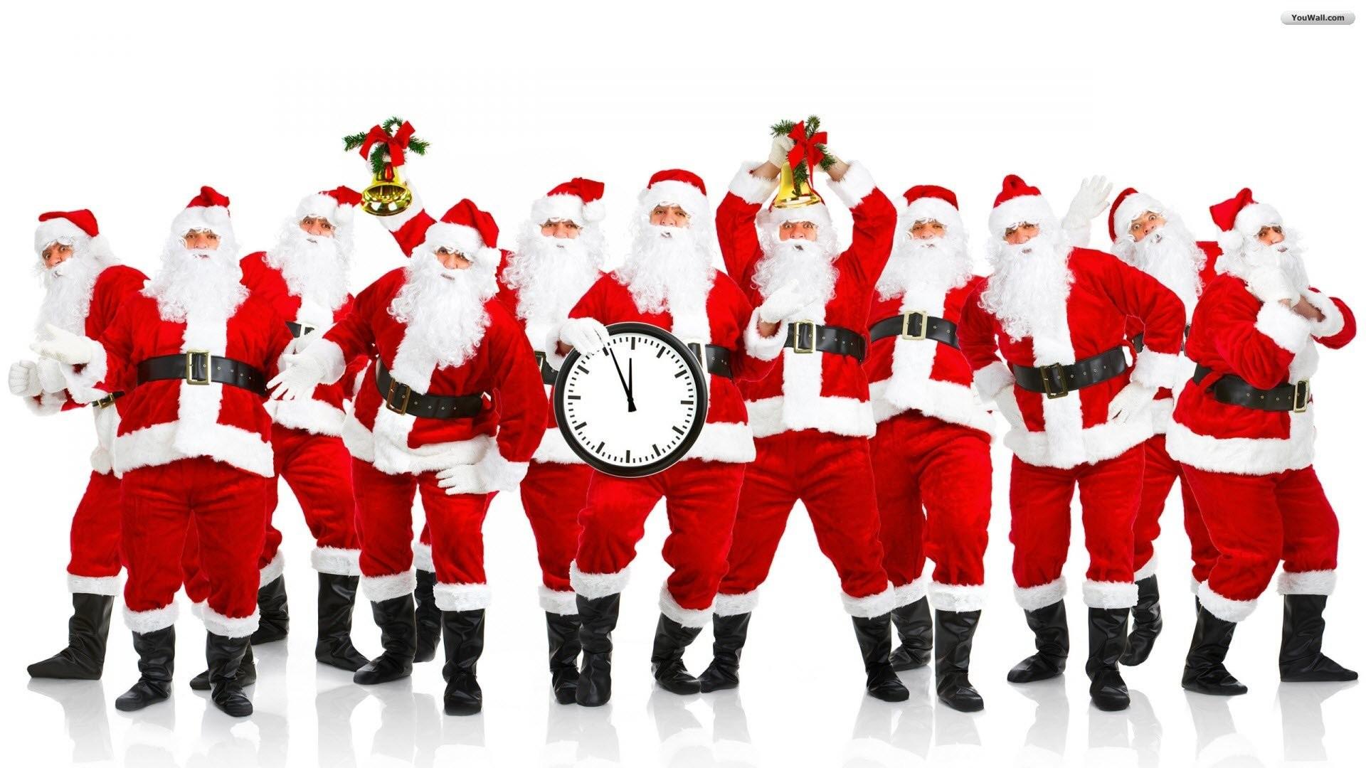 Santa Claus Group Wallpaper