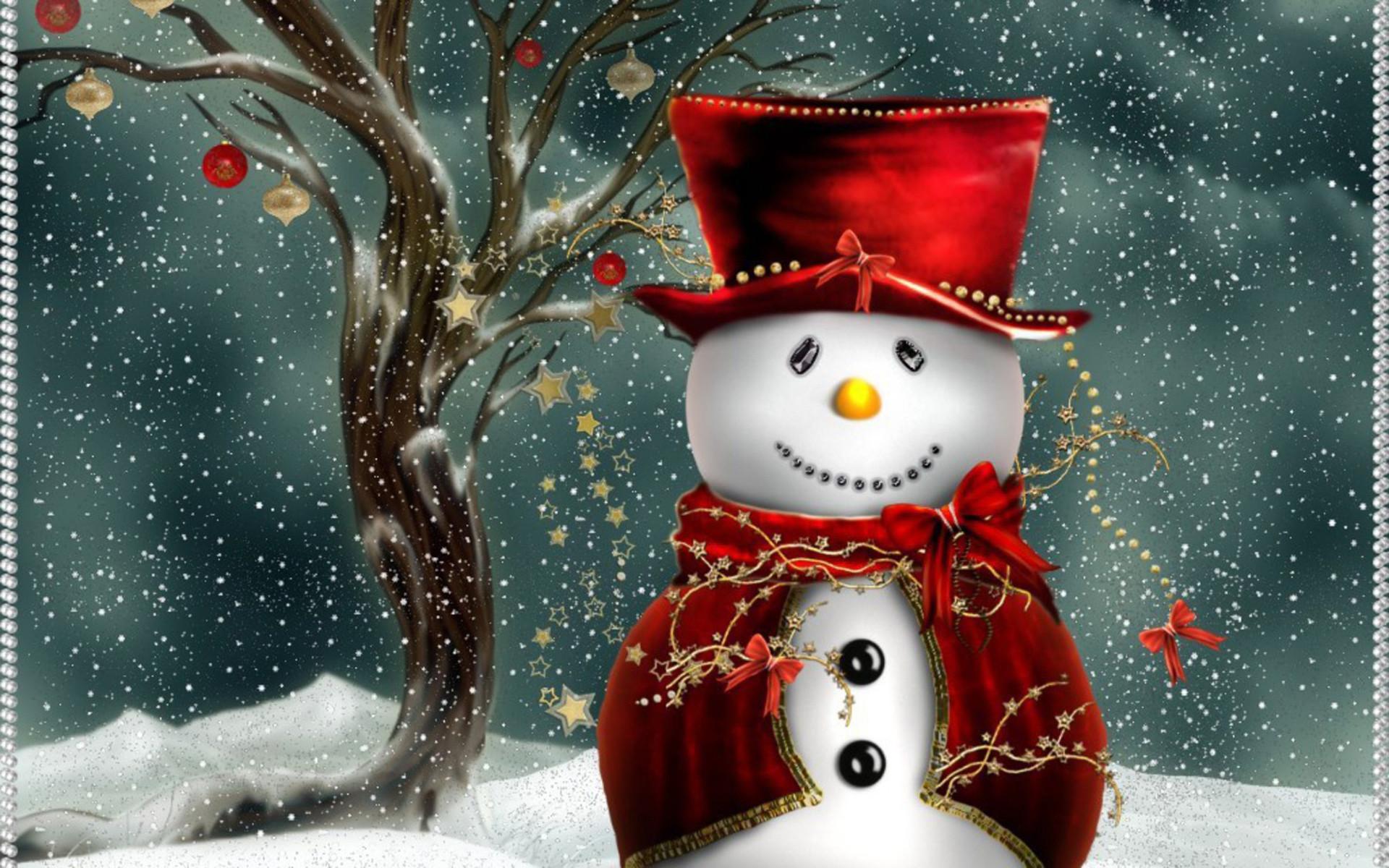 free desktop wallpaper of cute christmas snowman free computer desktop