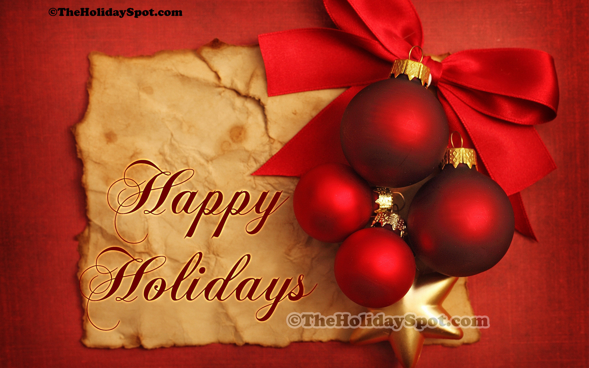 A High Definition christmas wallpaper wishing Happy Holidays on the  occasion of Christmas.