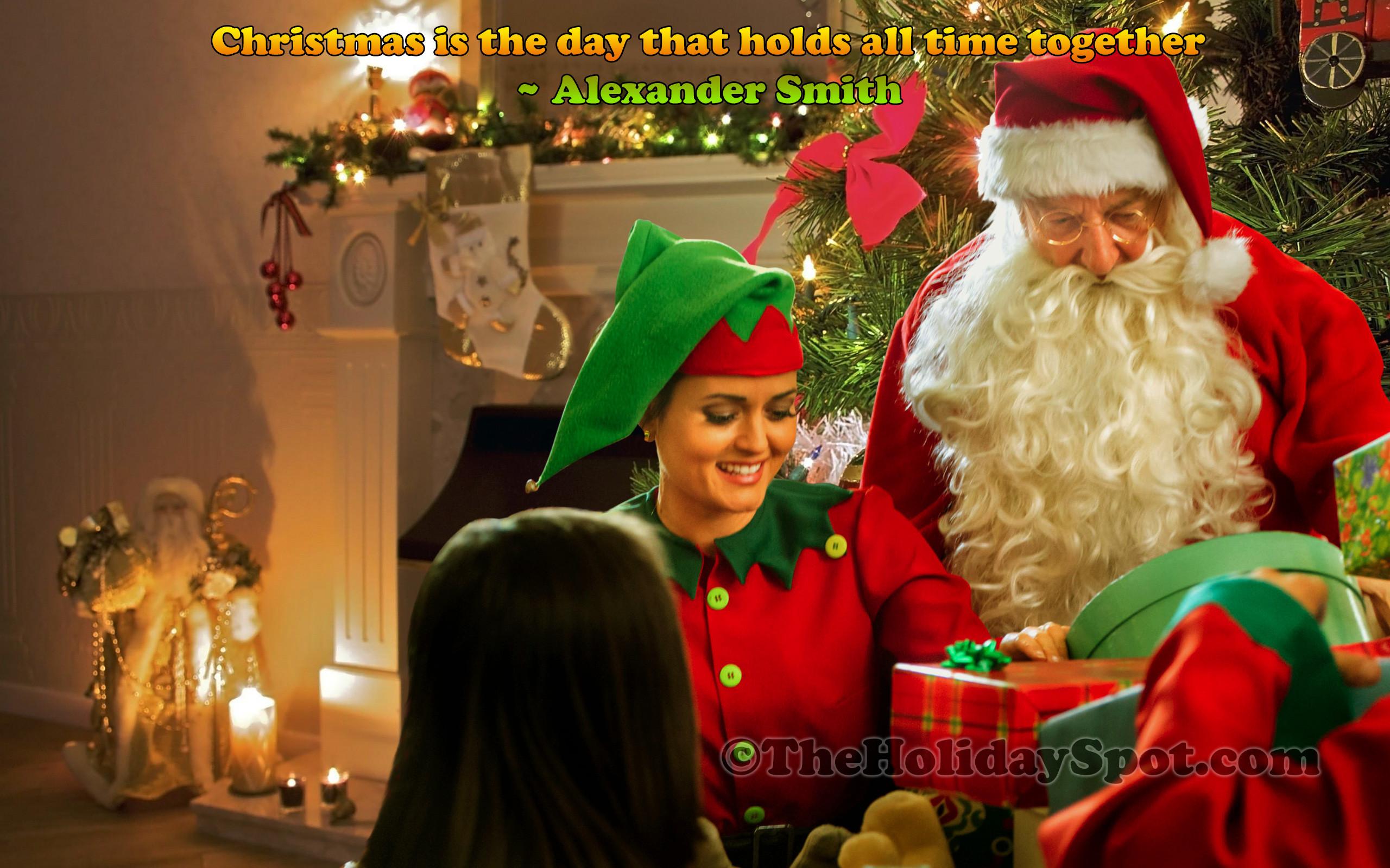 Wallpaper – Christmas celebration with Santa