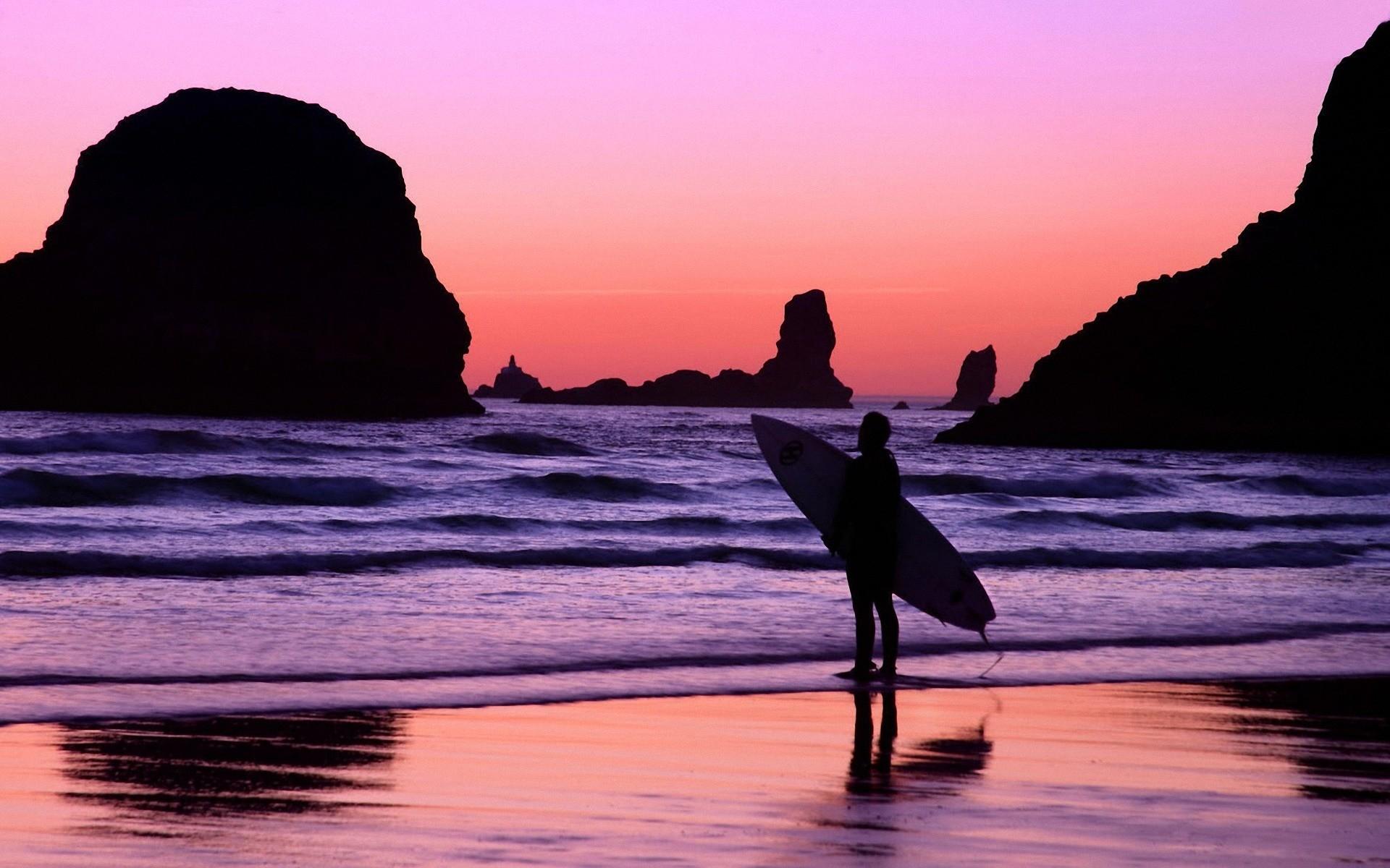 Surfing Beach High Quality Wallpaper Wallpaper