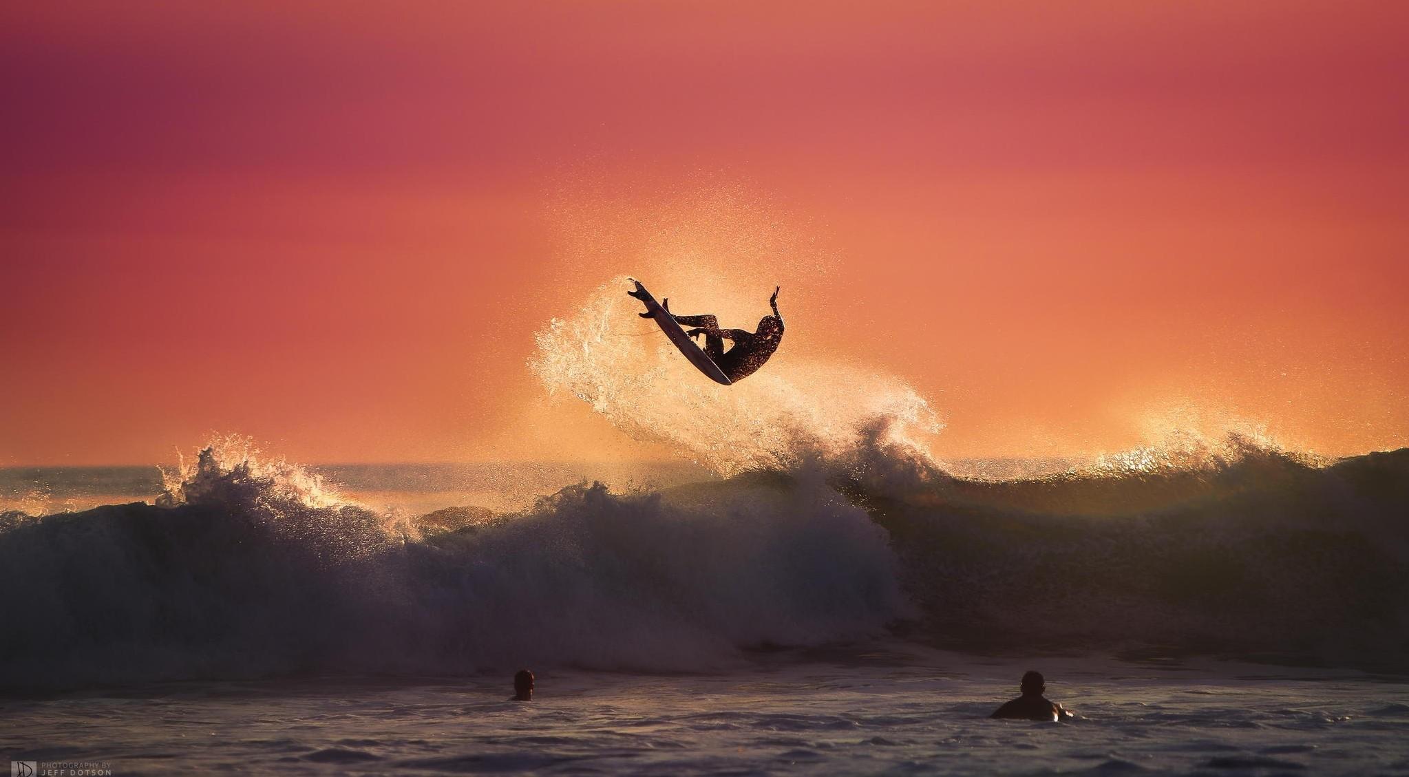 … surfing, sport, sea, waves, summer, sunset, art, desktop