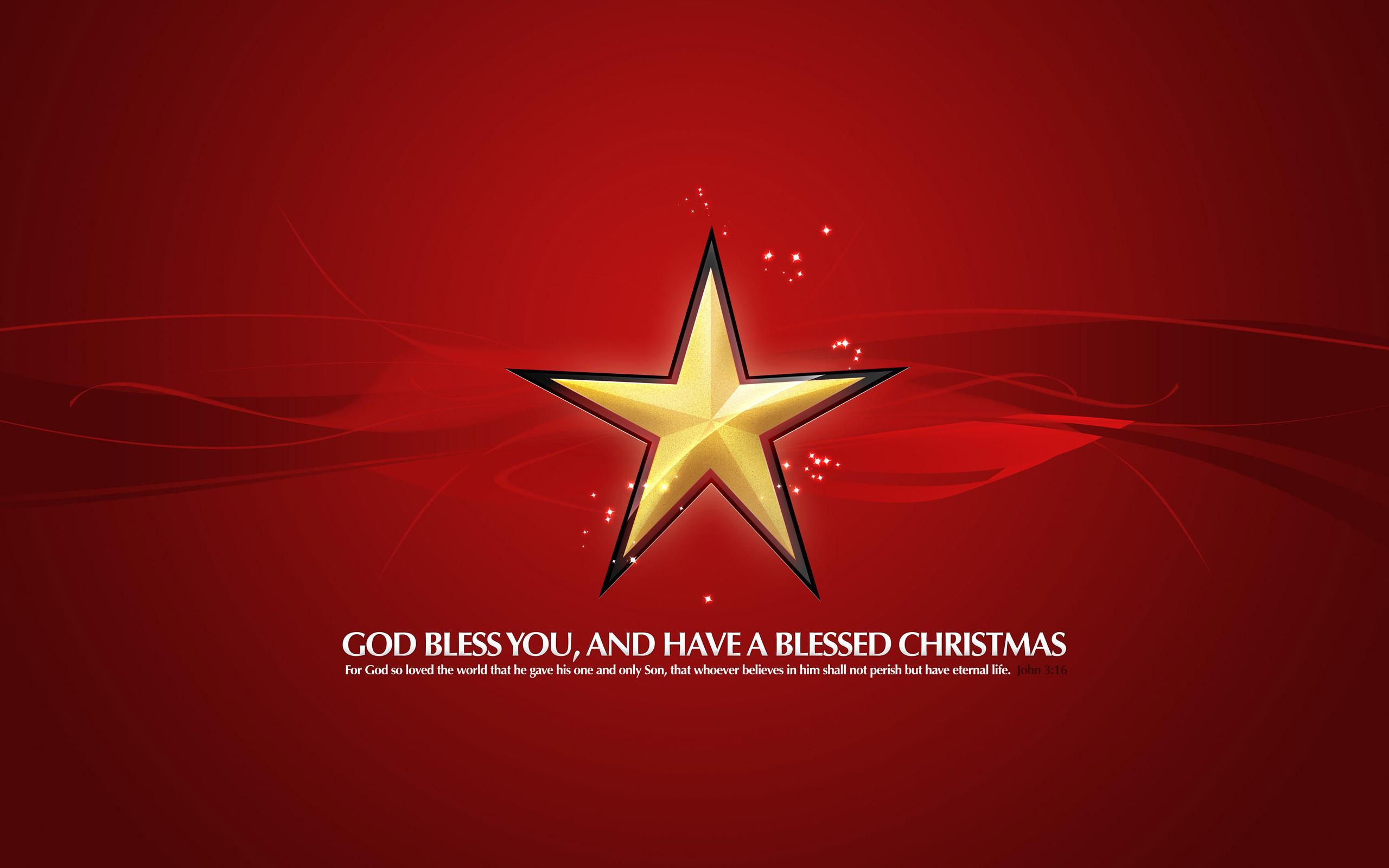 Free Christmas Golden Star HD Wallpaper For Desktop