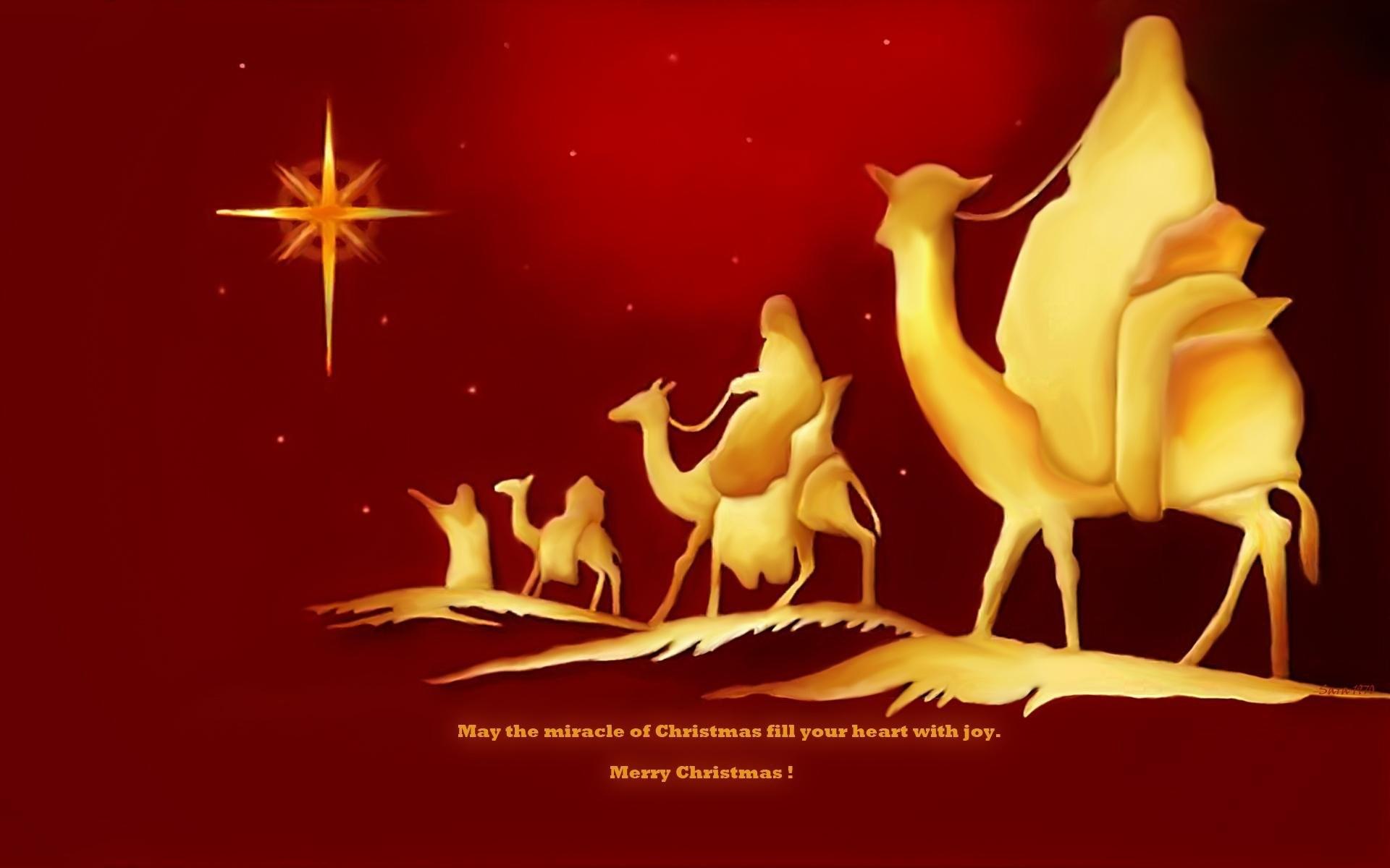 The Magi Following Star Of Bethlehem