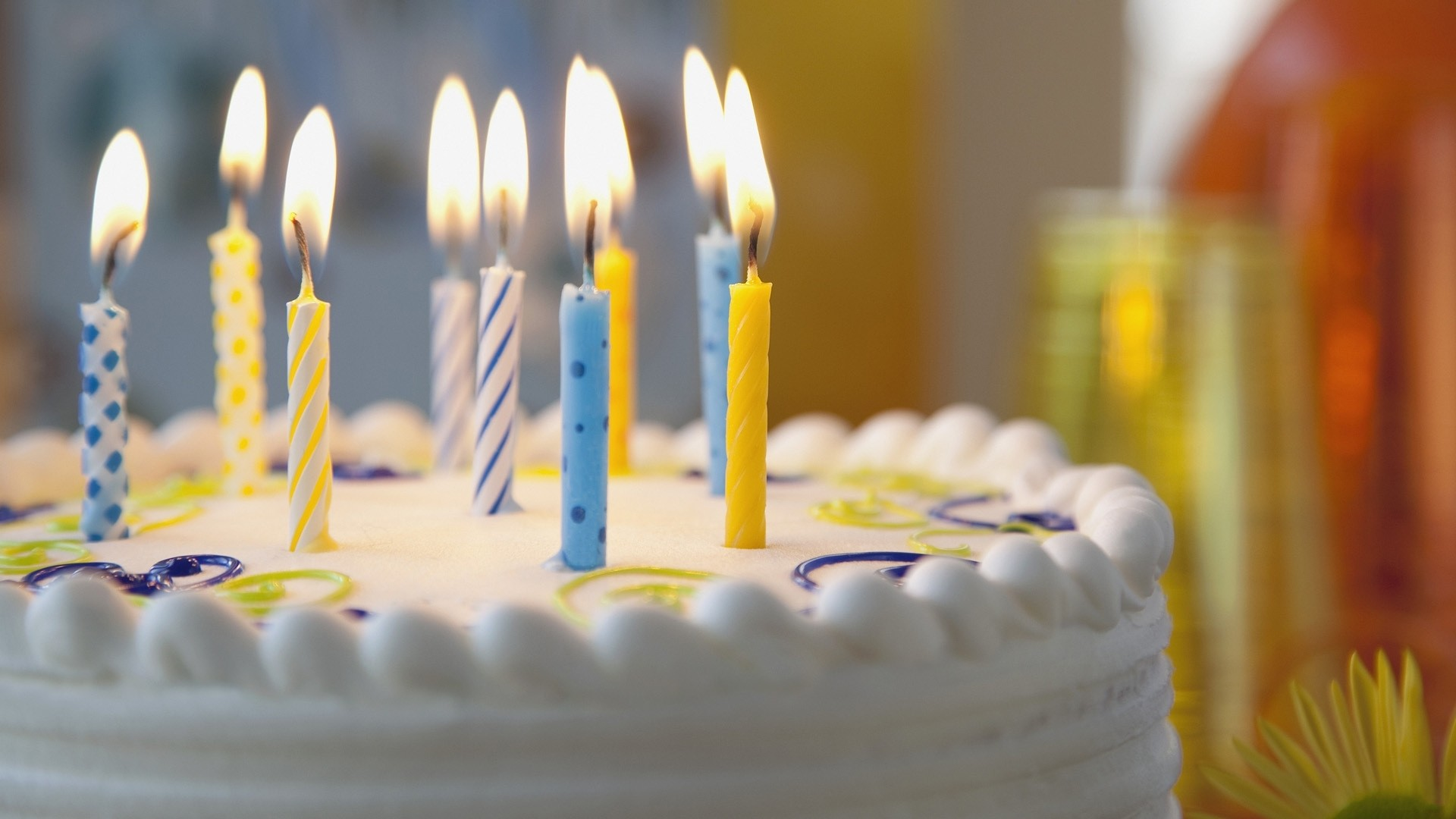 Preview wallpaper pie, candles, birthday 1920×1080