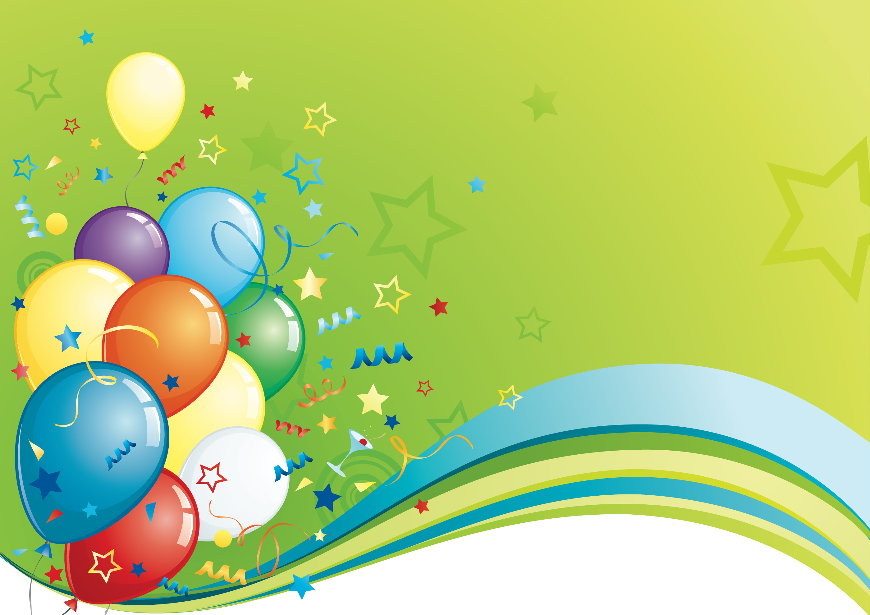 Happy birthday colorful balloon backgrounds free download