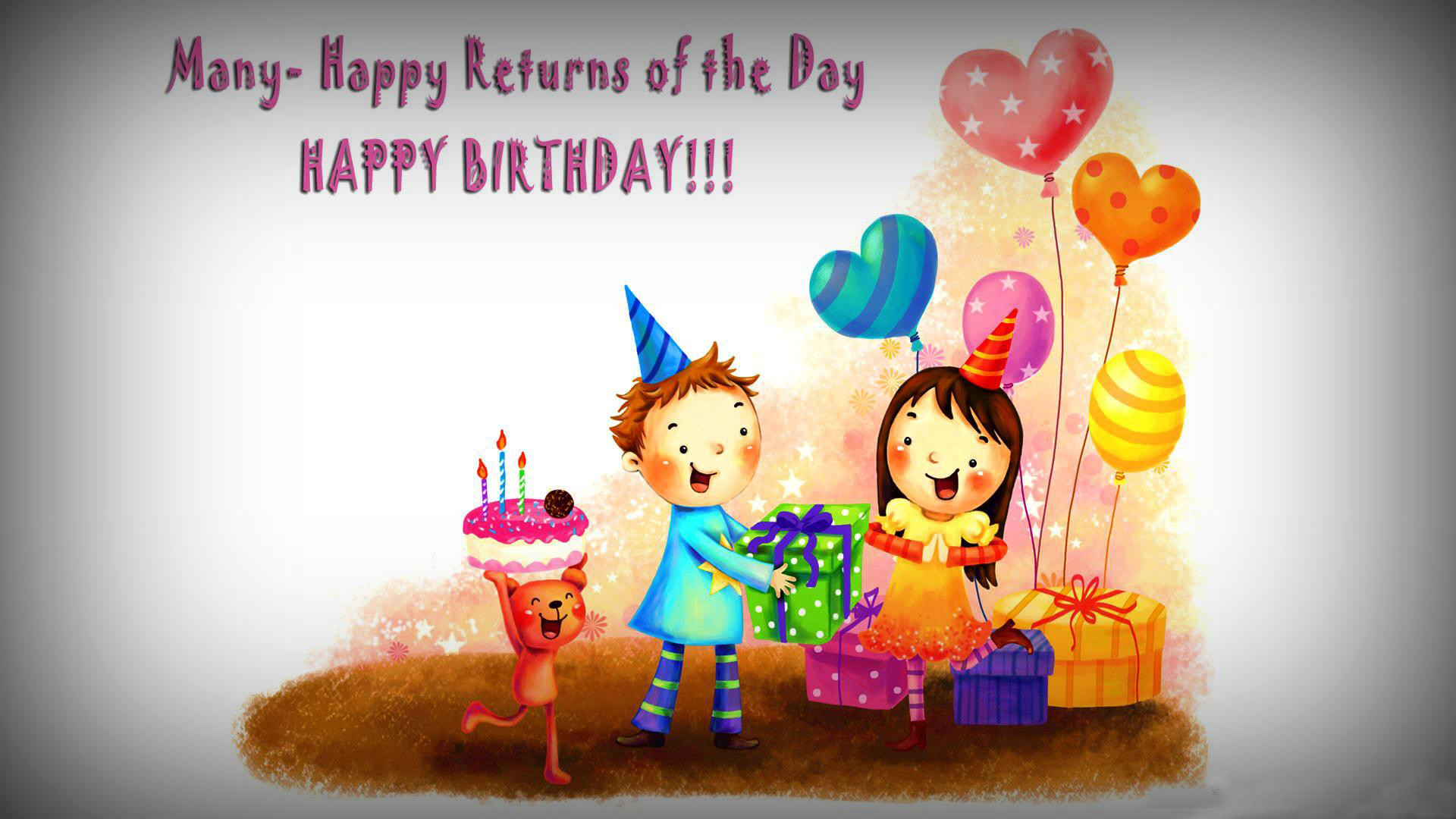 Happy birthday best friend animated photo for you