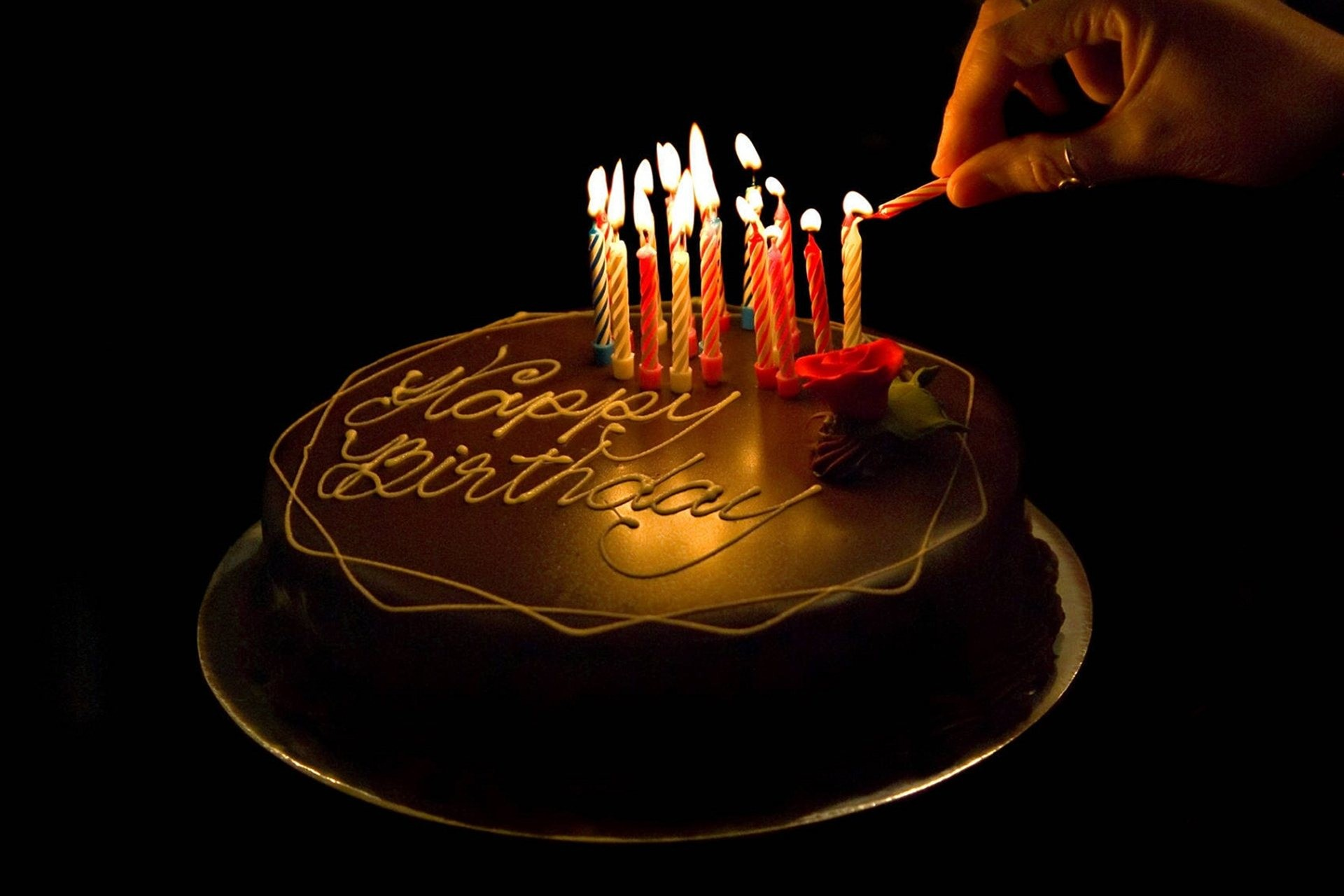 Happy Birthday Cake Candles Wallpapers