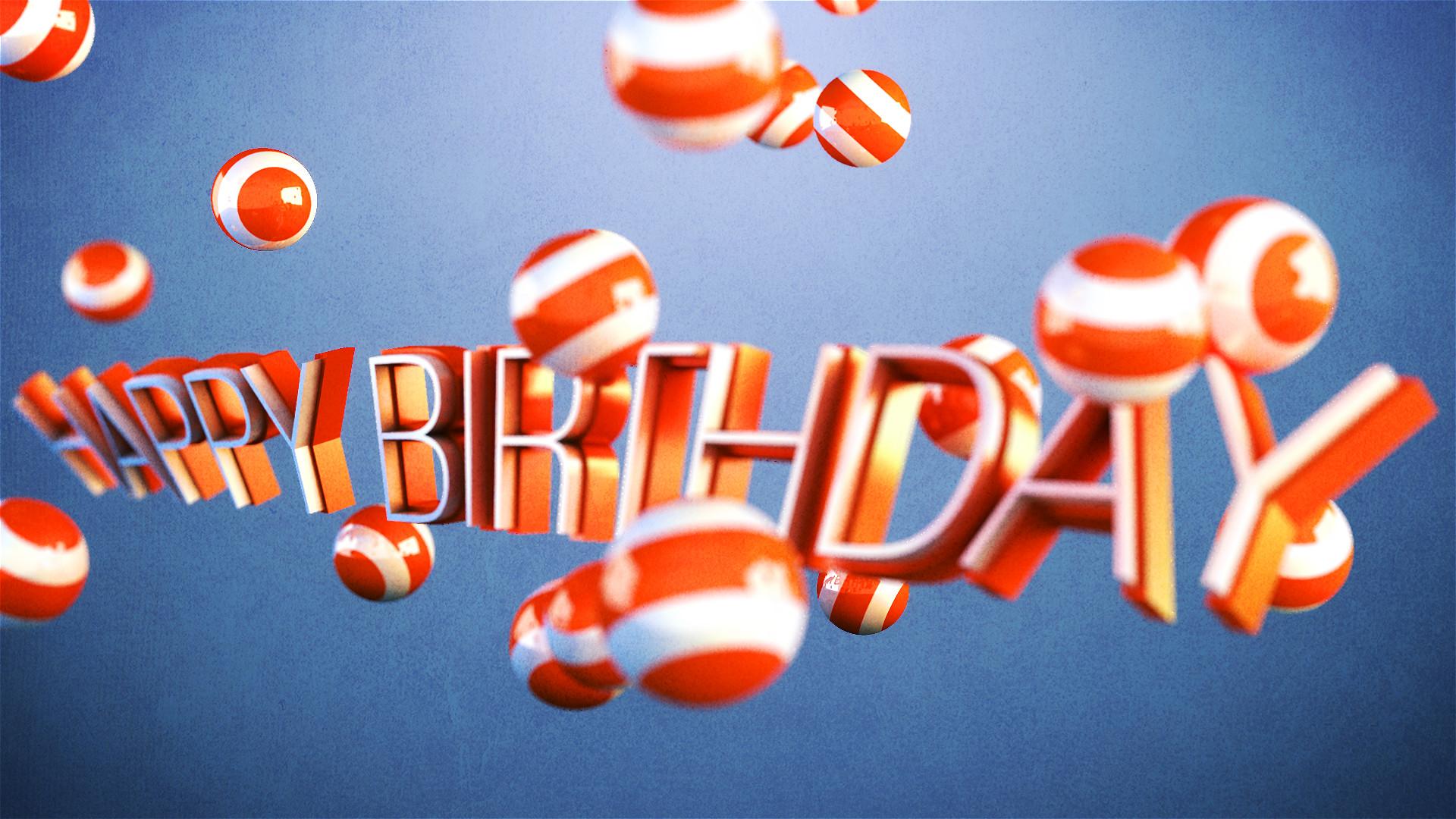 Happy Birthday HD 3D Wallpaper
