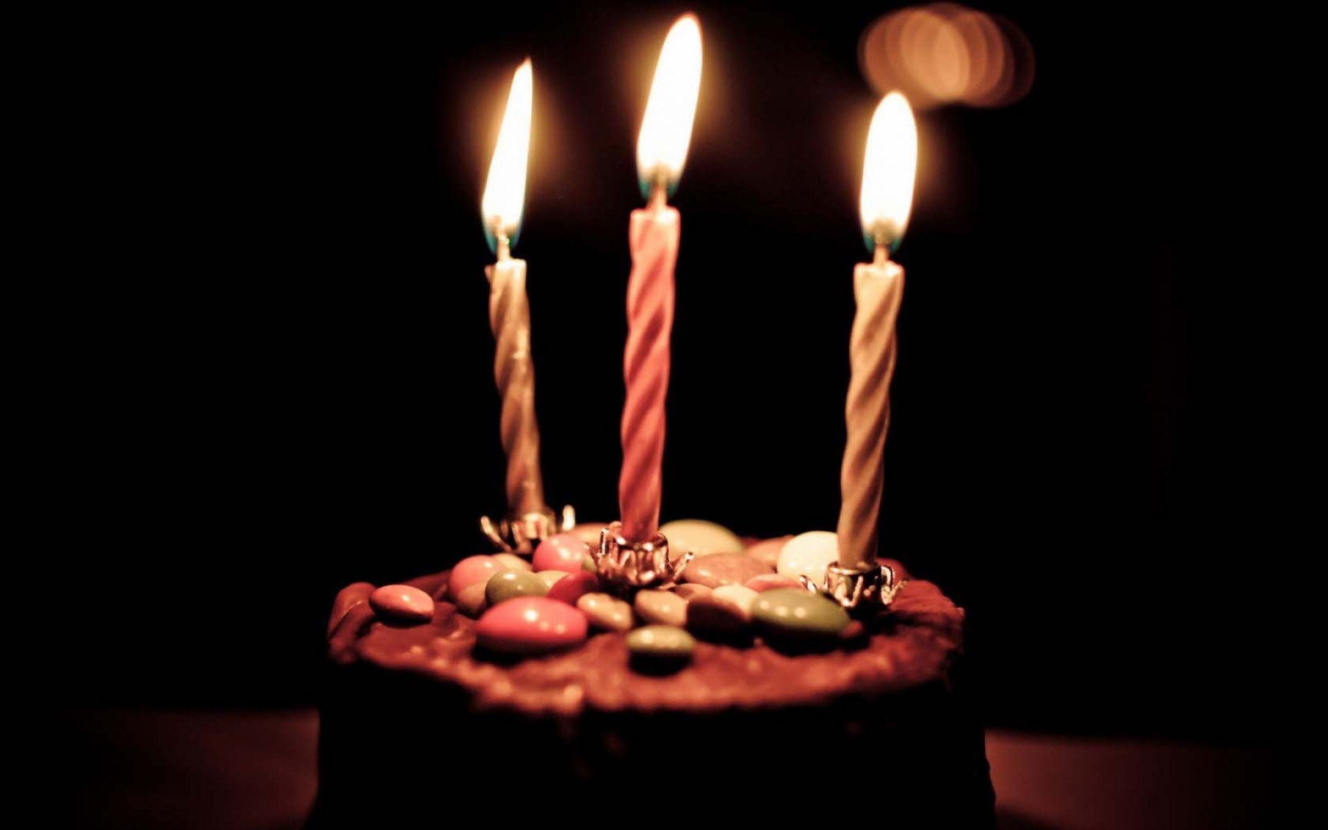 Chocolate Birthday Cake And Candles …