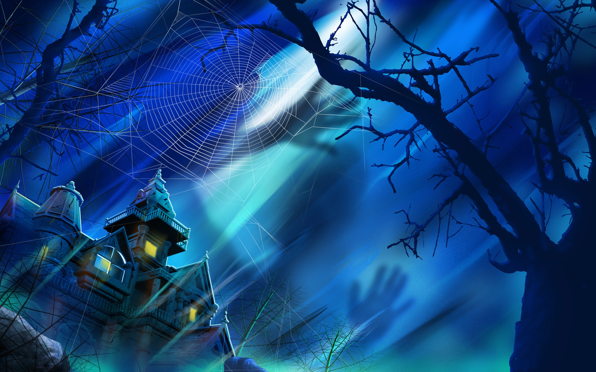 wallpapers, screen, savers, halloween, haunted, screensavers, mansion