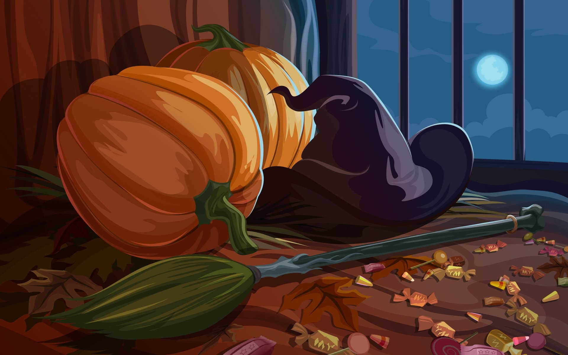 Scary Halloween Wallpaper Witches