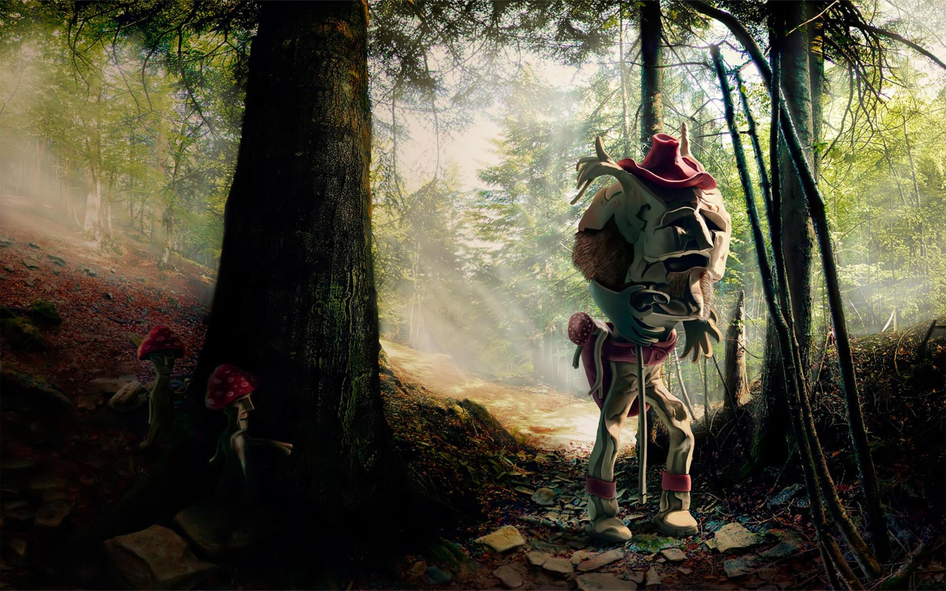 Toy Scary Forest HD wallpaper