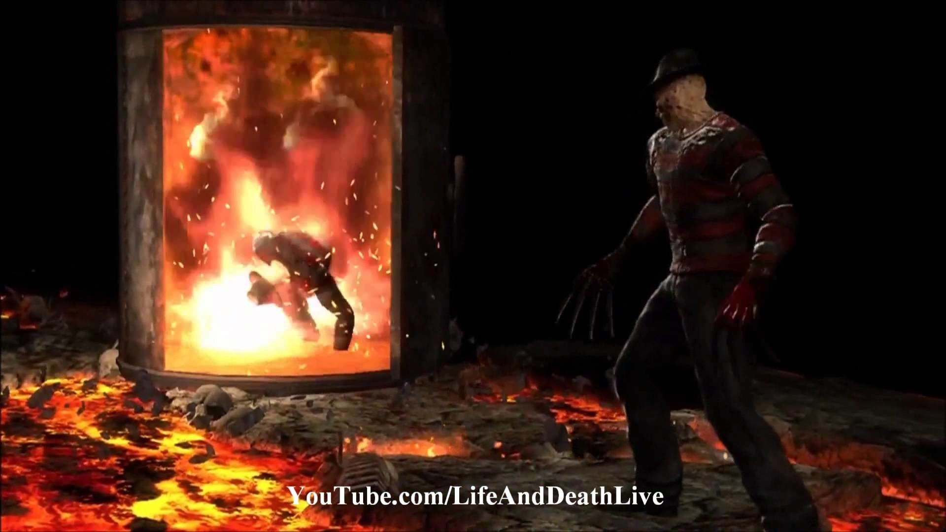 Mortal Kombat 9 Freddy Krueger Fatality 1, 2, Stage and Babality .