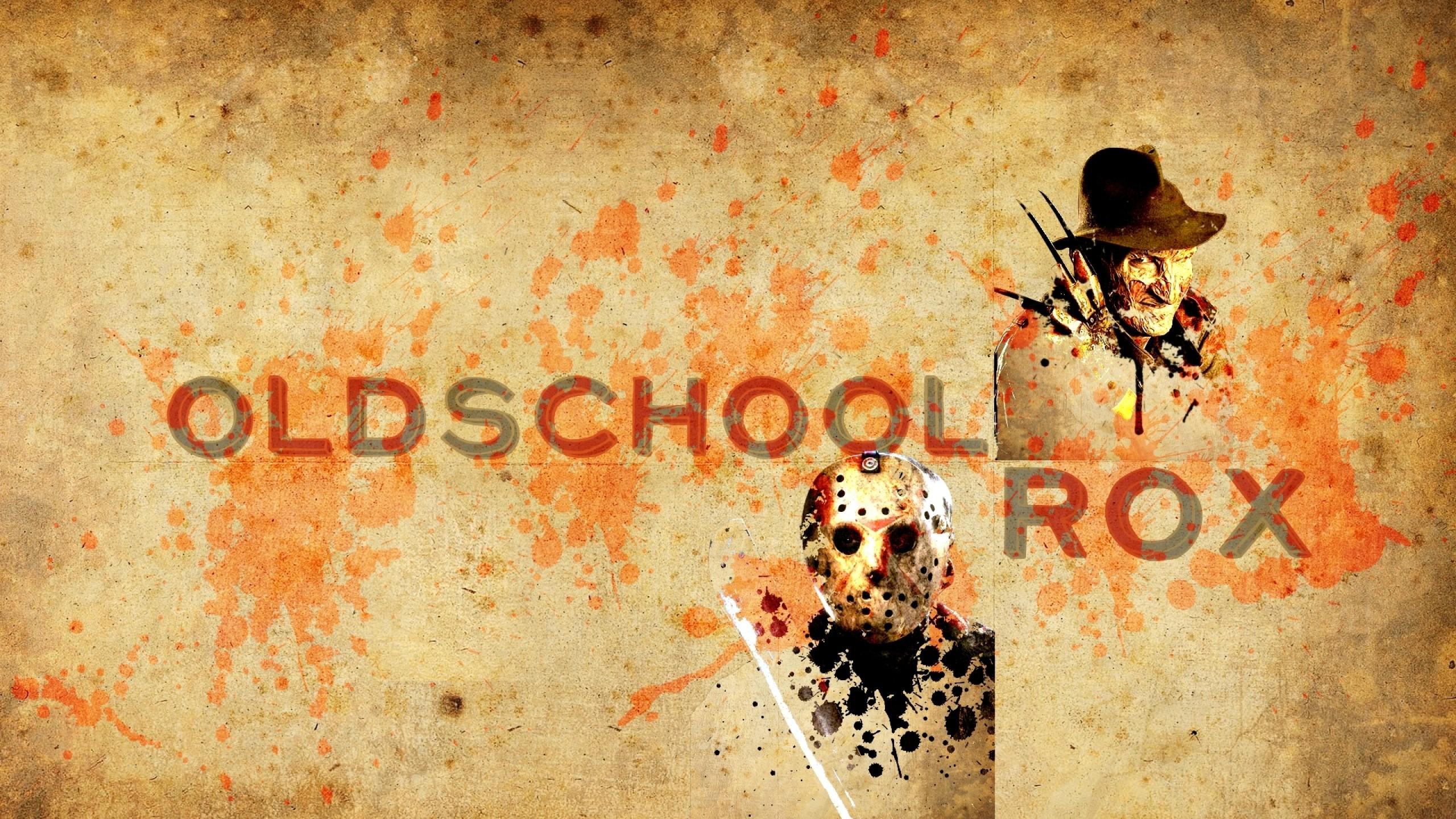 dark oldschool freddy vs jason freddy krueger jason voorhees 1920×1080  wallpaper Art HD Wallpaper