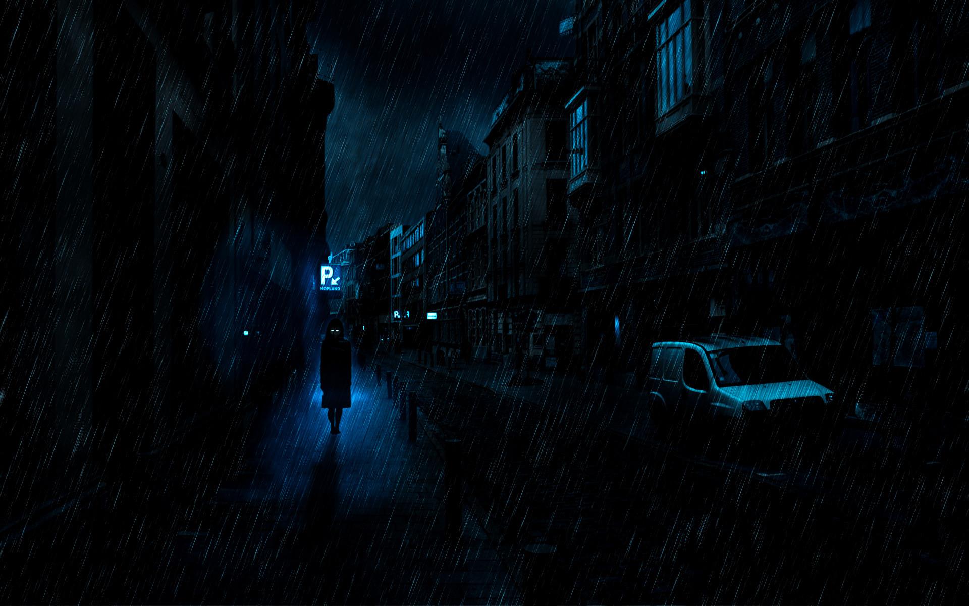 Anime – Original Dark Rain Wallpaper