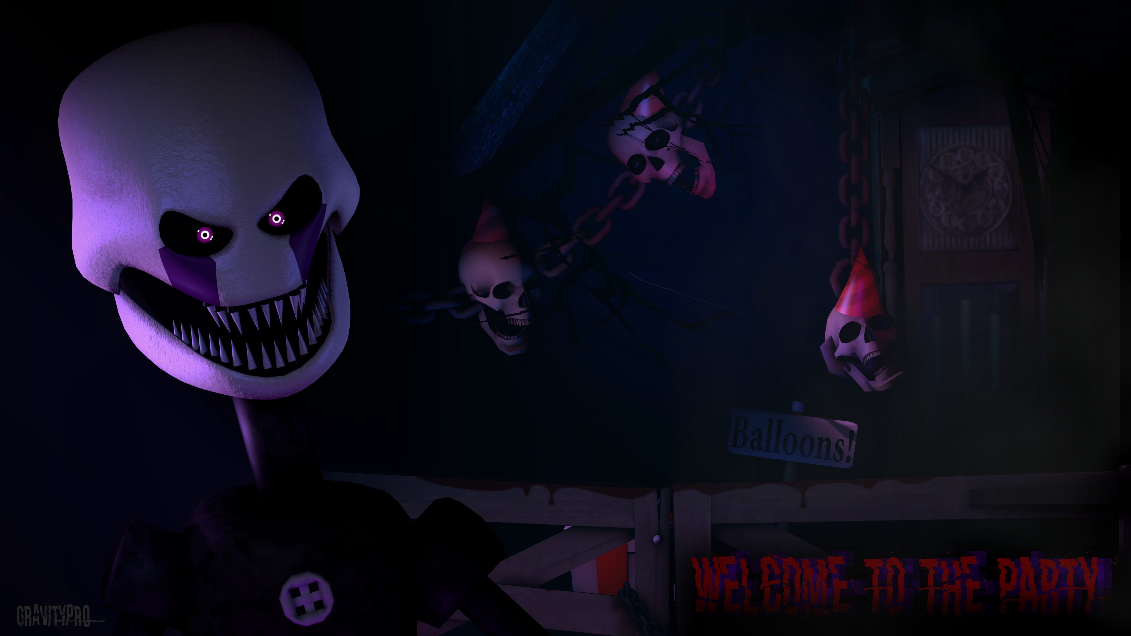 … Welcome to the Party [FNAF SFM, 4K Wallpaper] by GravityPro
