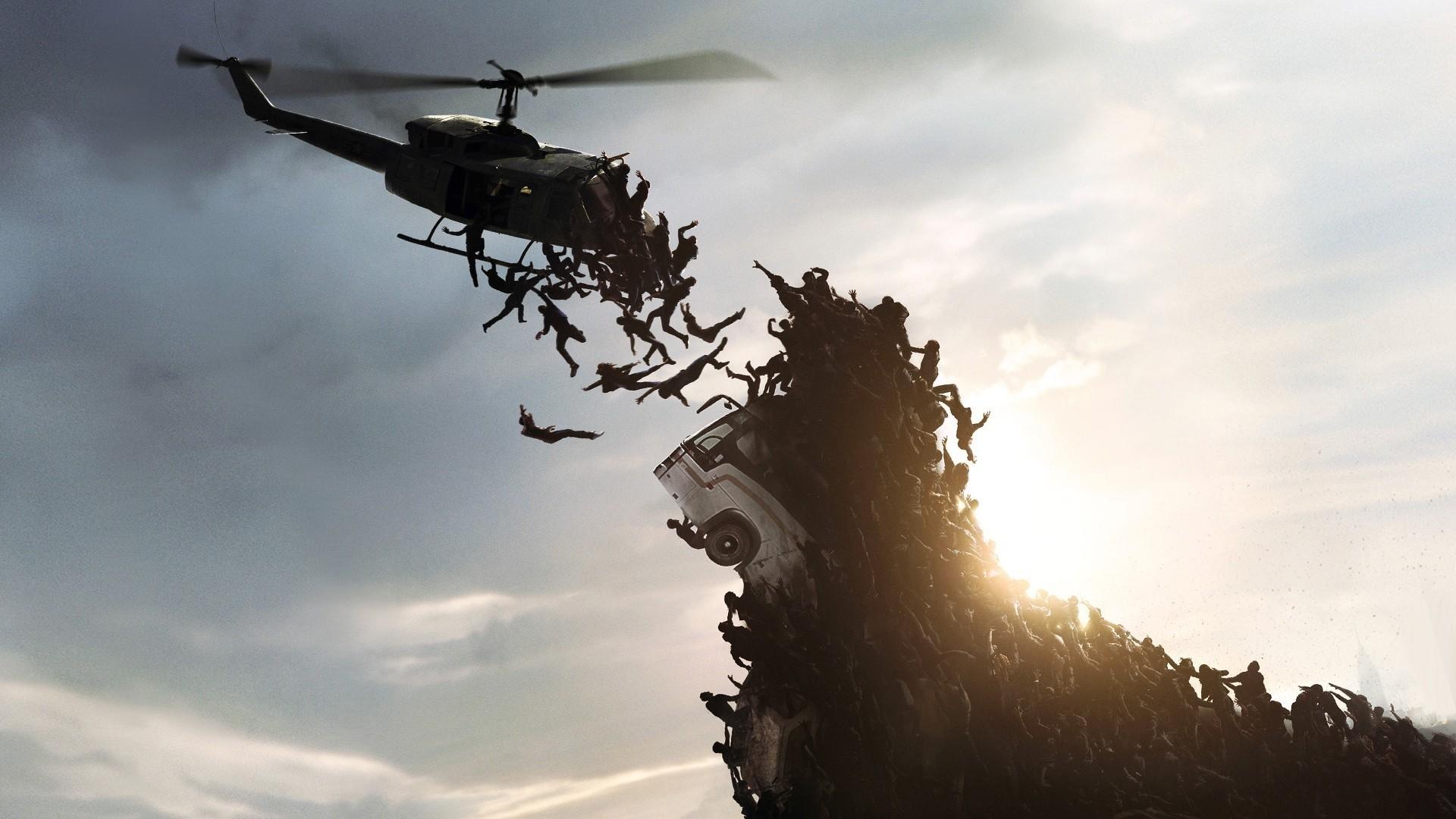 World war z falling skies zombie apocalypse wallpaper .