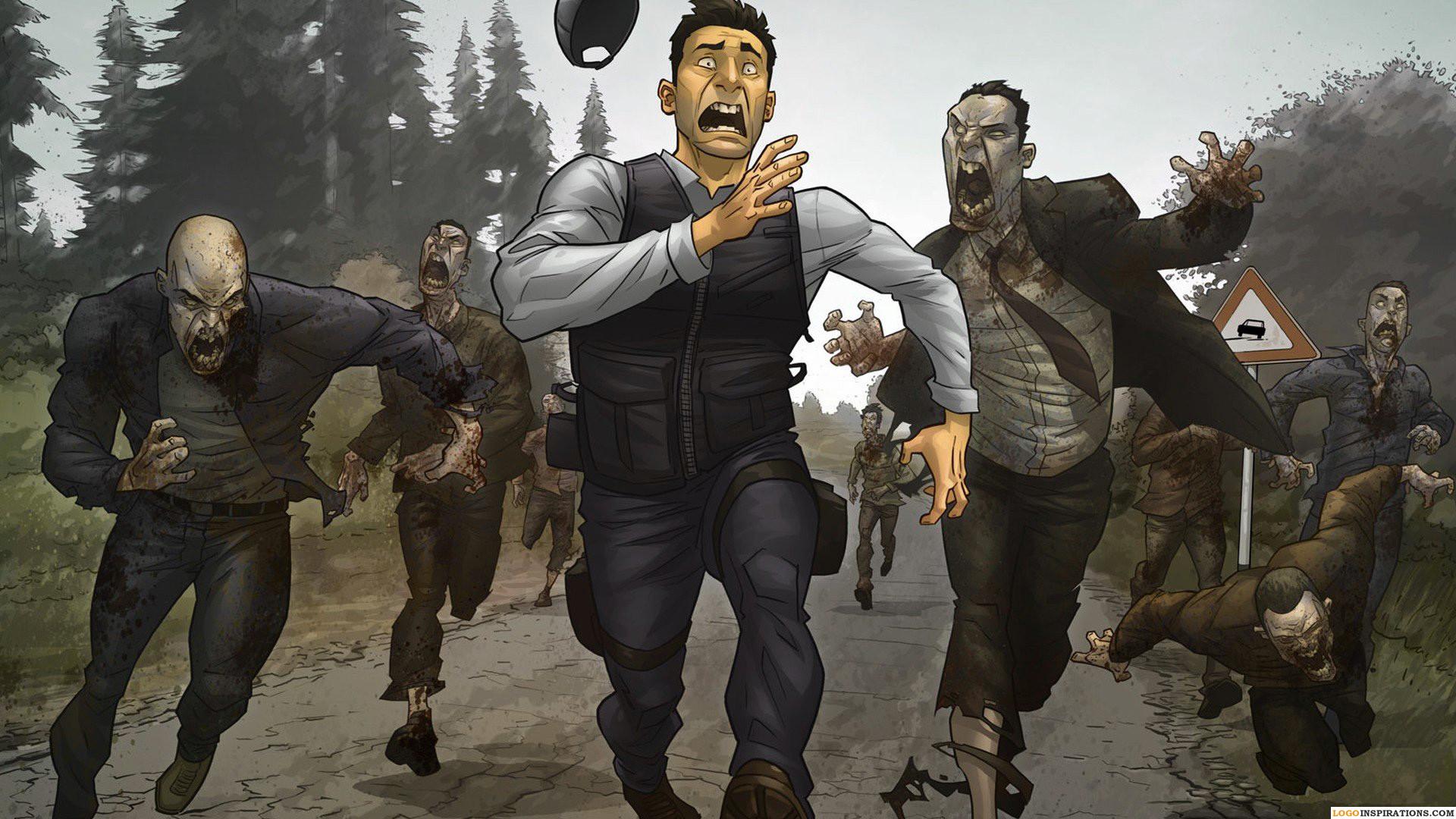 People Running HD Zombie Apocalypse Wallpaper