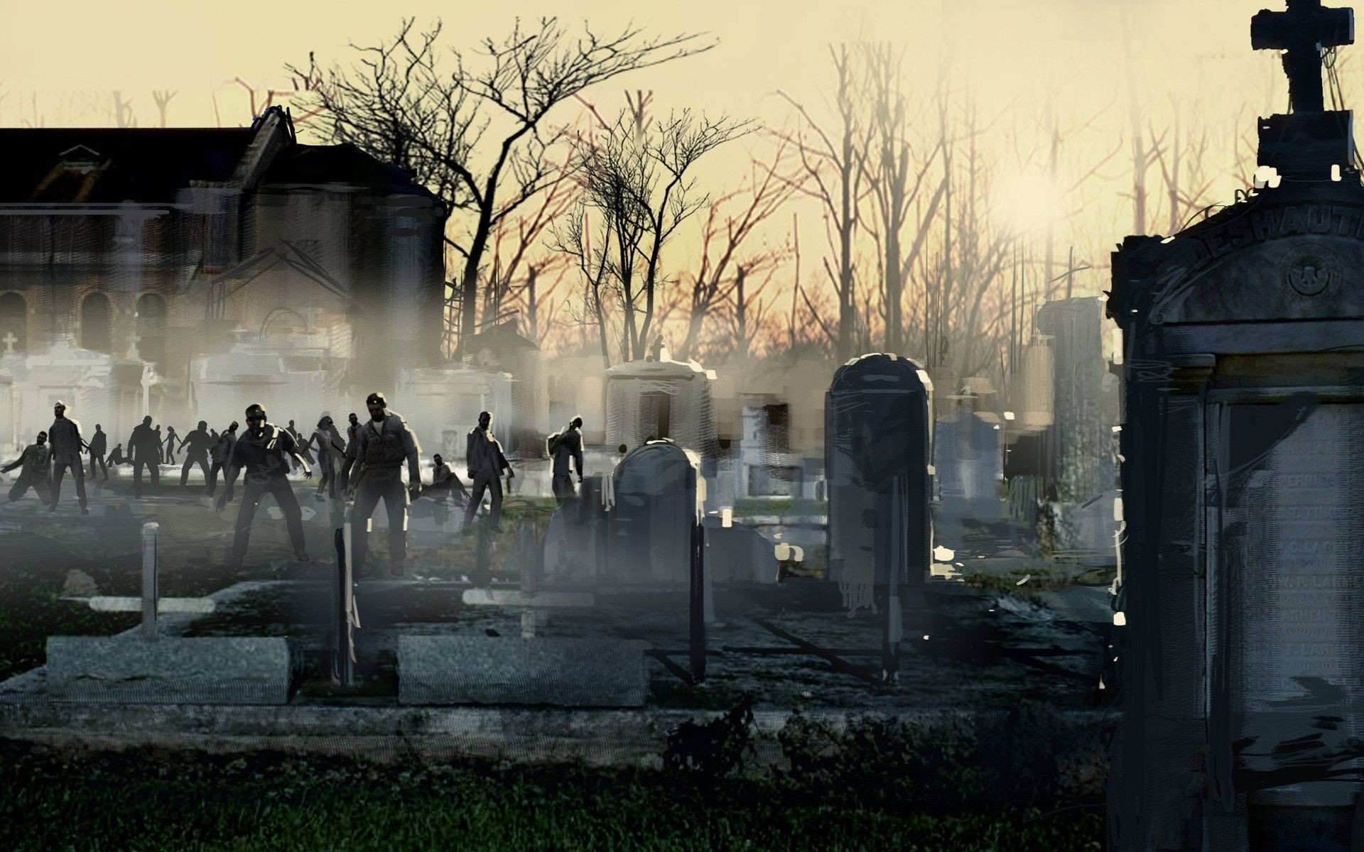 Zombie apocalypse 1600×1000 wallpaper art hd wallpaper download – Free  Download Zombies Wallpapers Czm946