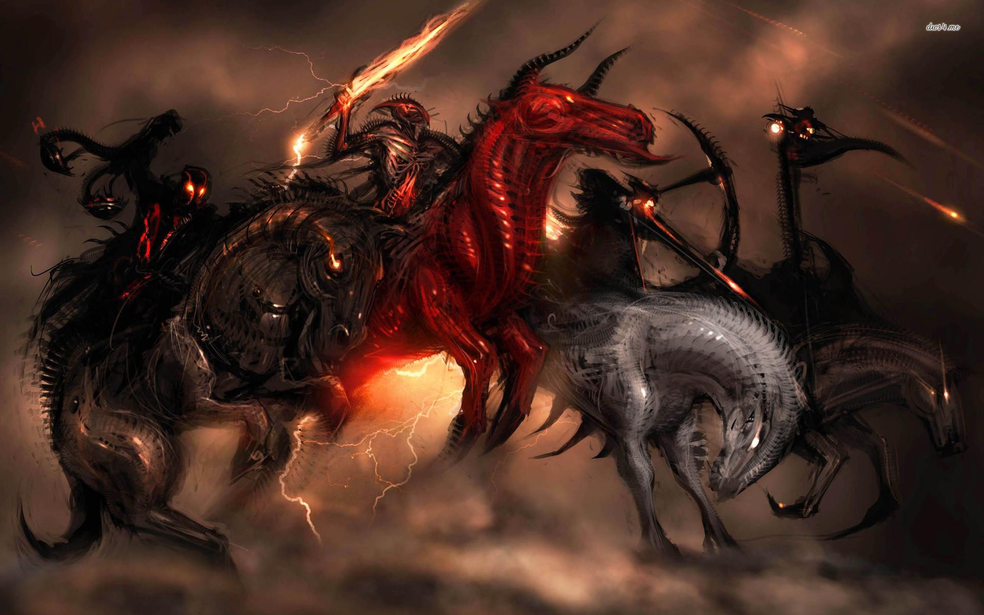 Four Horsemen of the Apocalypse wallpaper – Fantasy wallpapers .
