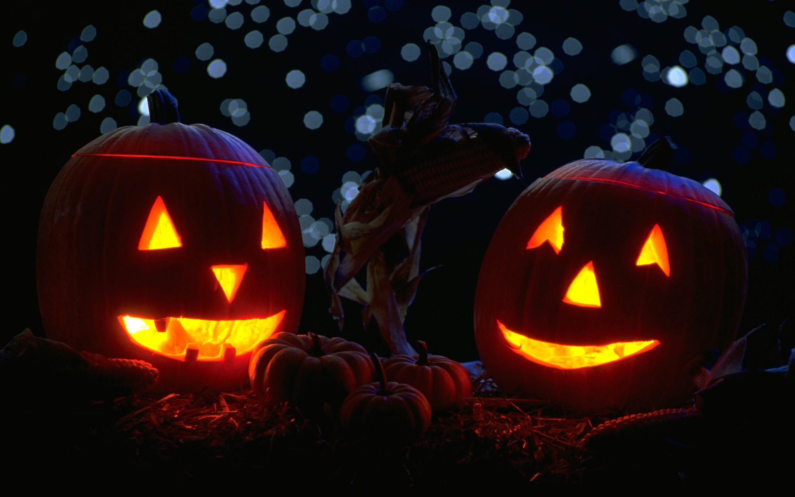 <b>Scary Halloween</b> Pumpkin Desktop <b>Wallpaper<