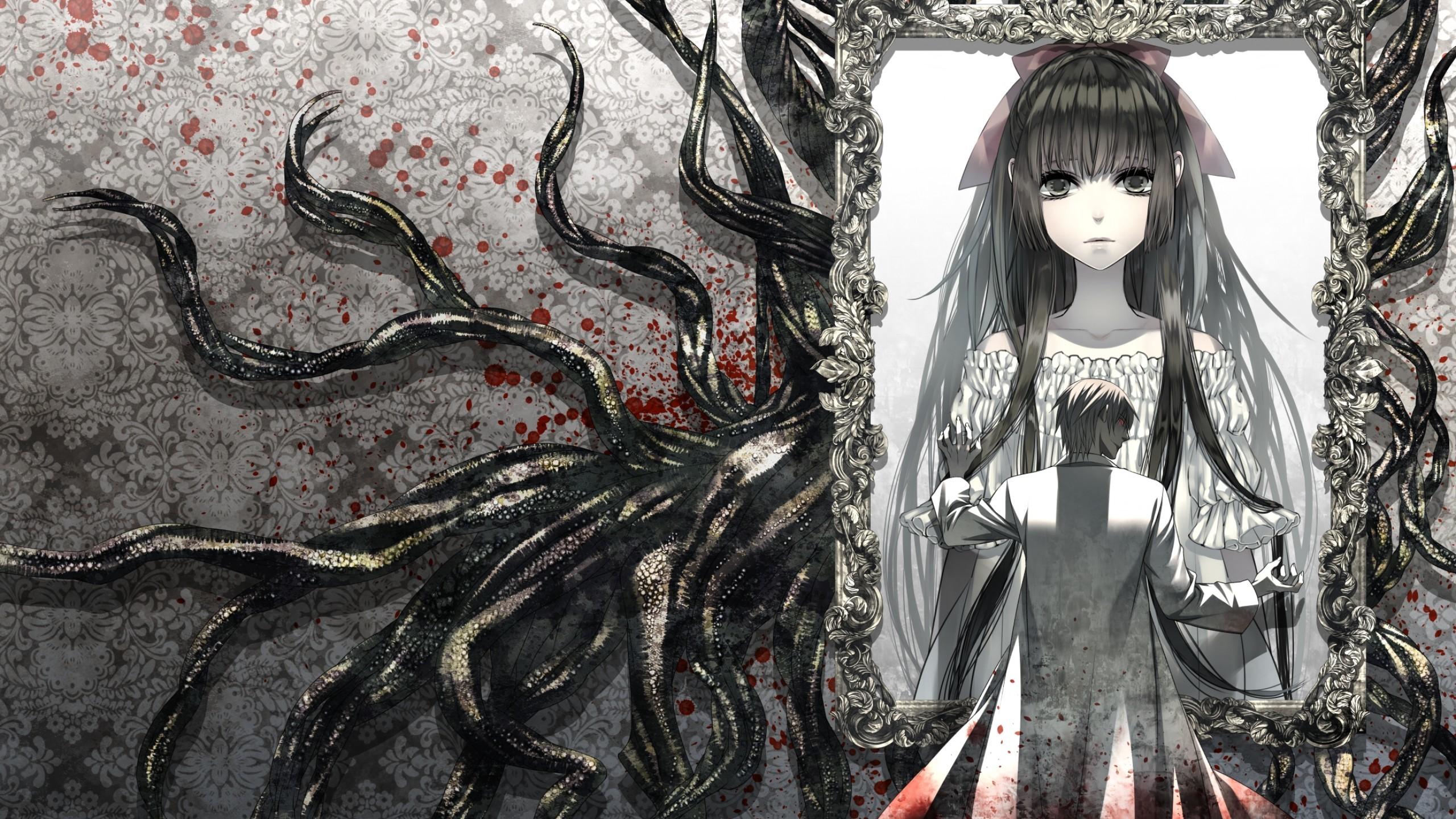 Anime Girl, Creepy, Portrait, Anime Boy