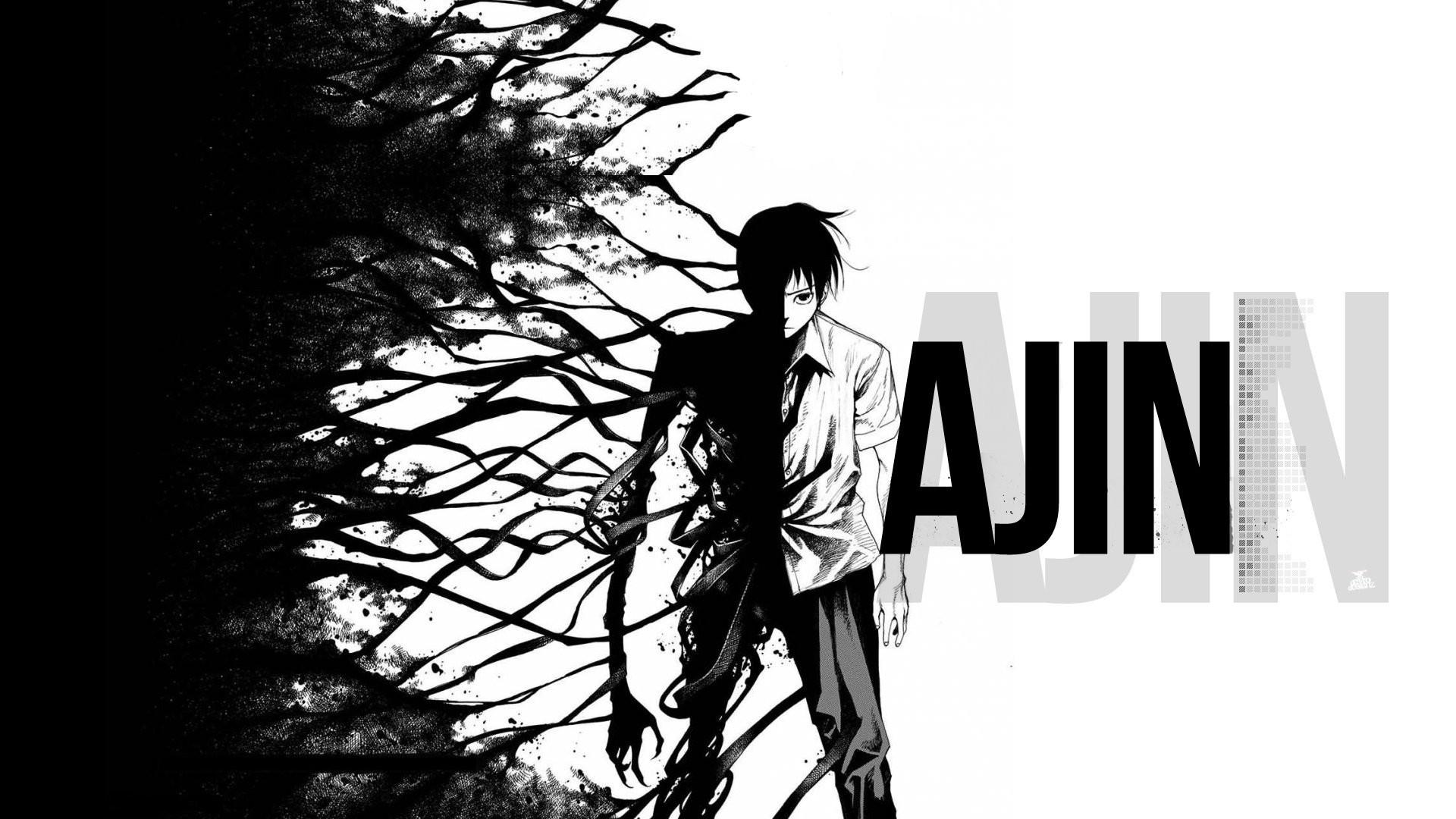 Anime – Ajin: Demi-Human Anime Black Creepy Dark Monster Wallpaper