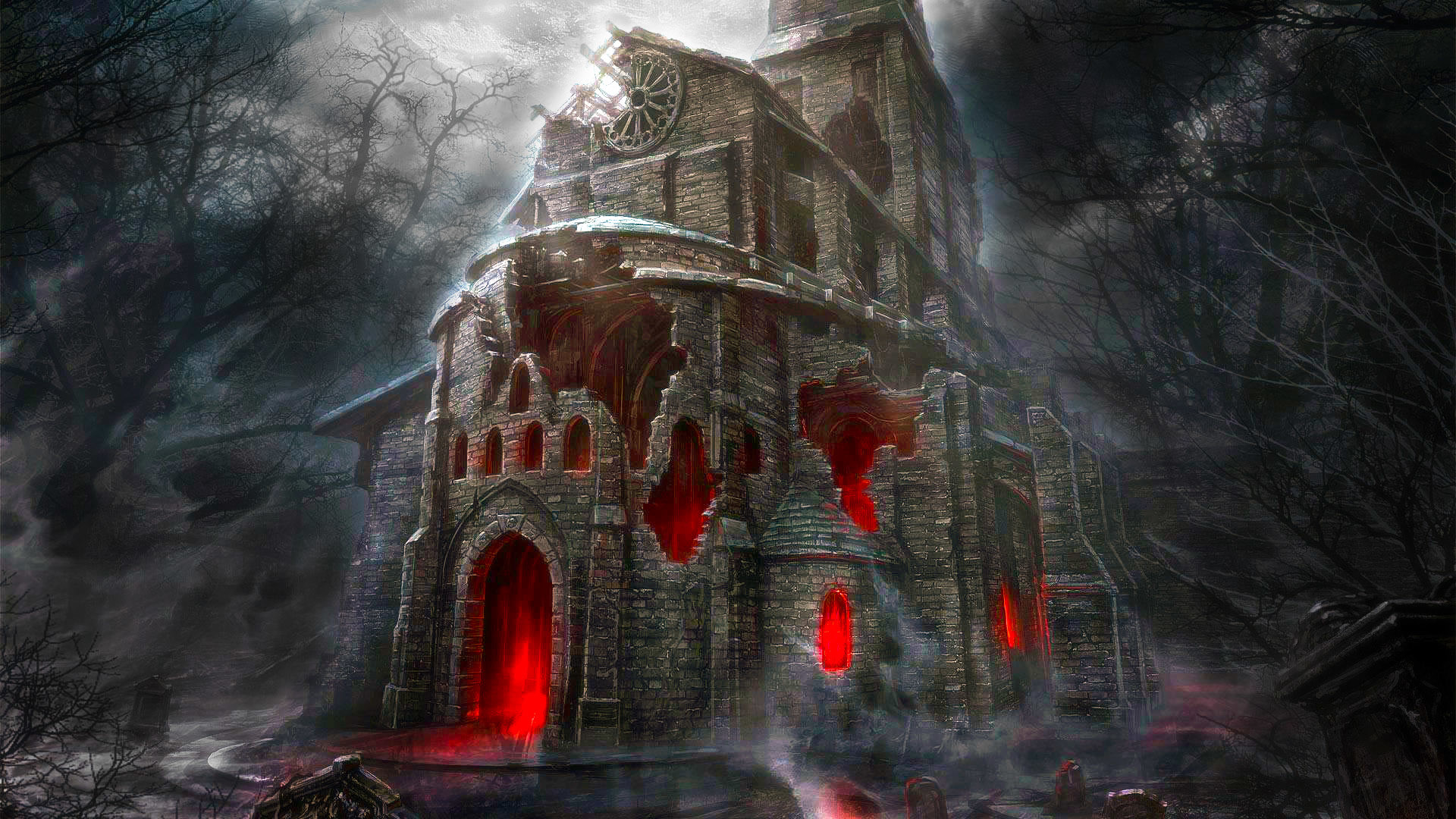 Halloween Horror House HD Wallpaper   Stylish Wallpapers .