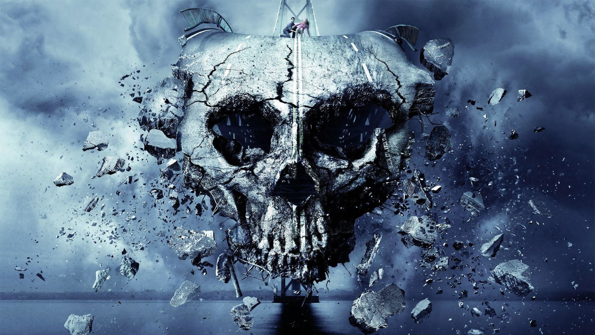 FINAL DESTINATION 5 dark skull skulls horror wallpaper   .