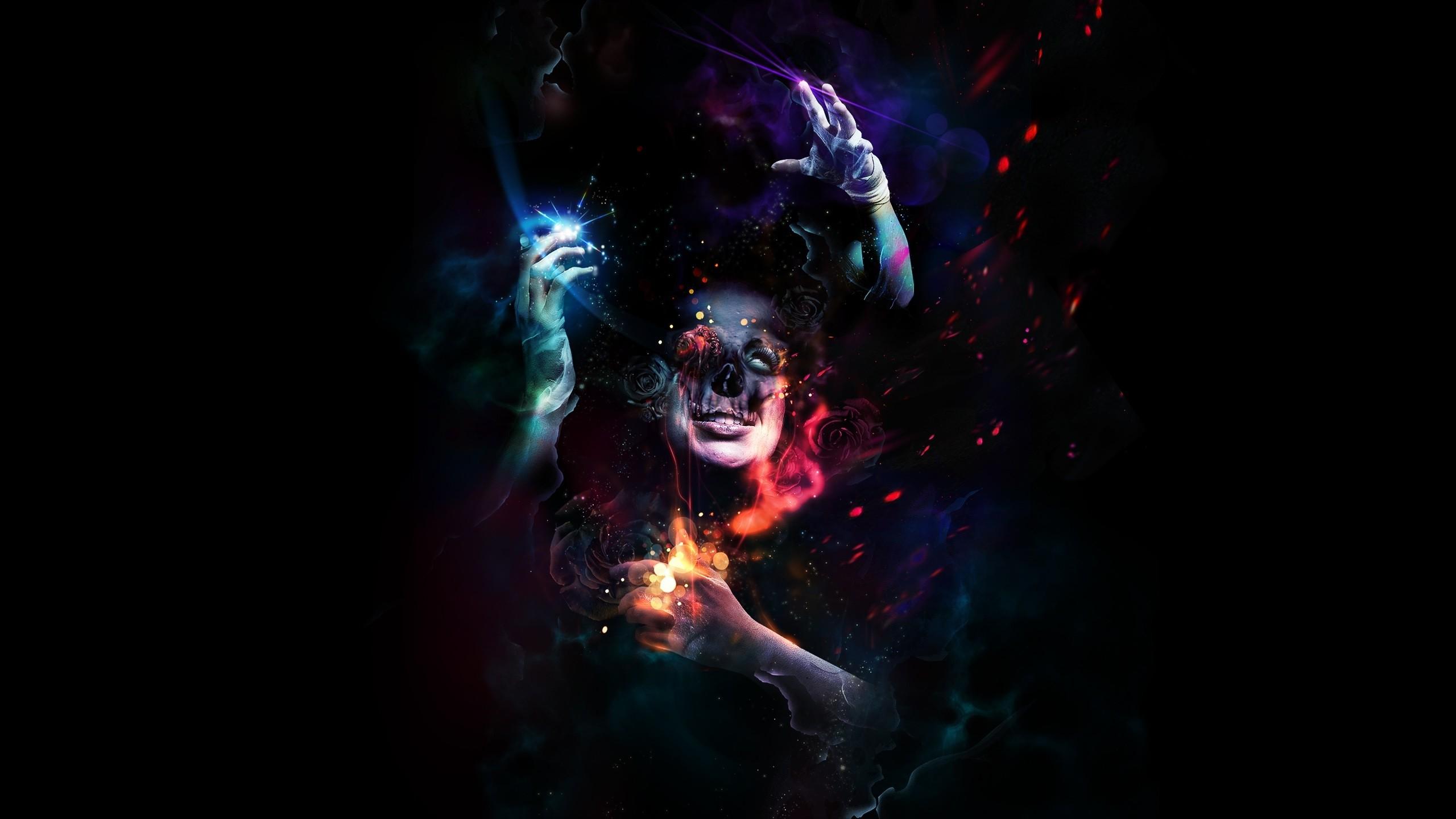 Wallpaper Man, Hands, Horror, Colorful, Dark, Skull, Dressings HD, Picture,  Image