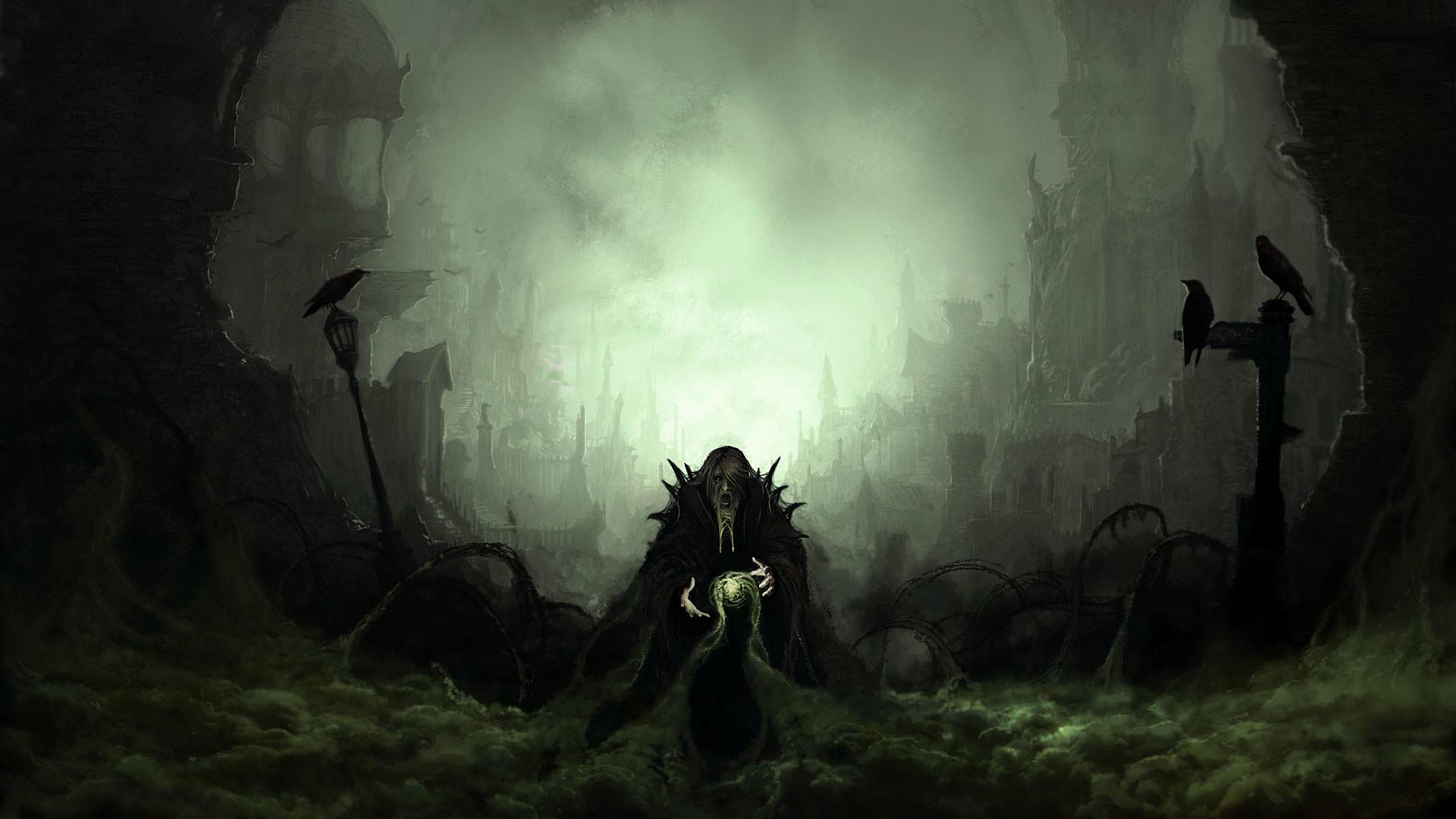 hd pics photos attractive fantasy castles horror art hd quality desktop  background wallpaper