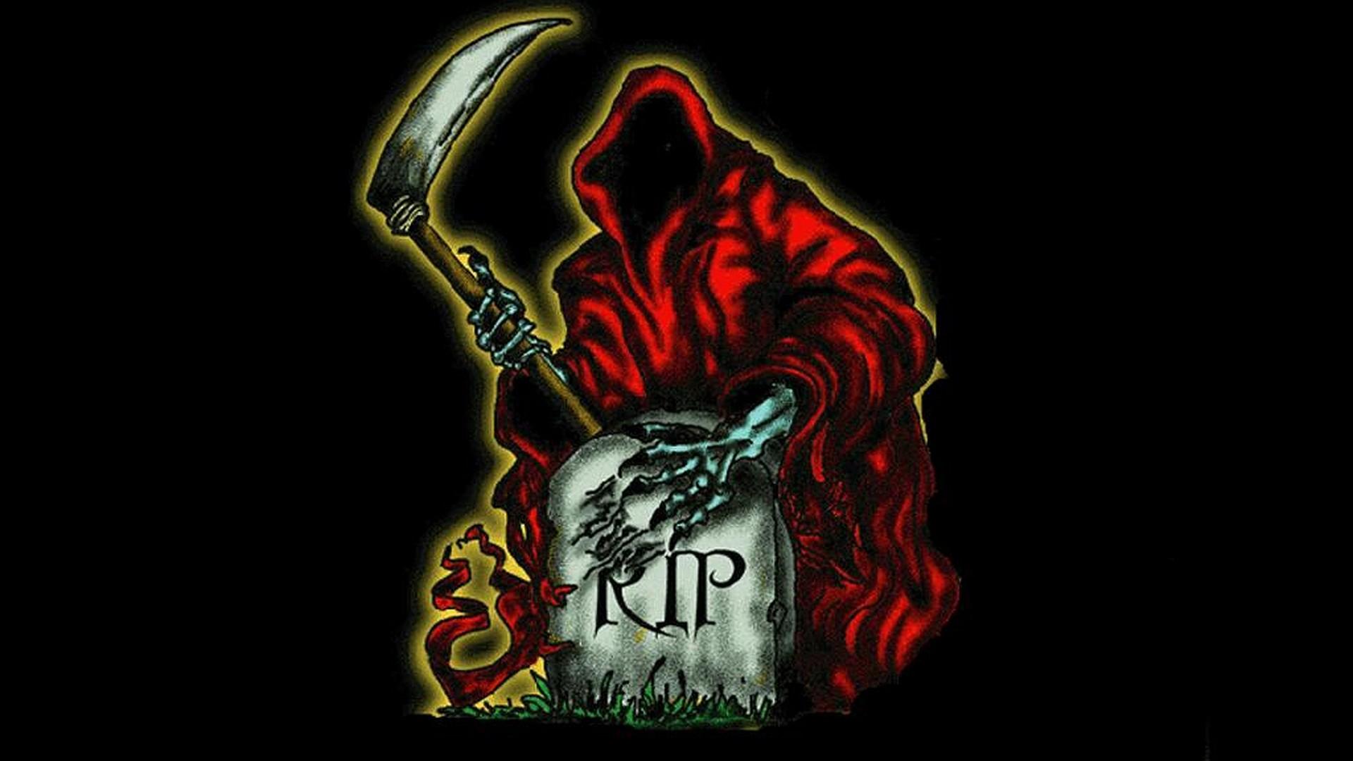 Dark Grim Reaper horror skeletons skull creepy f