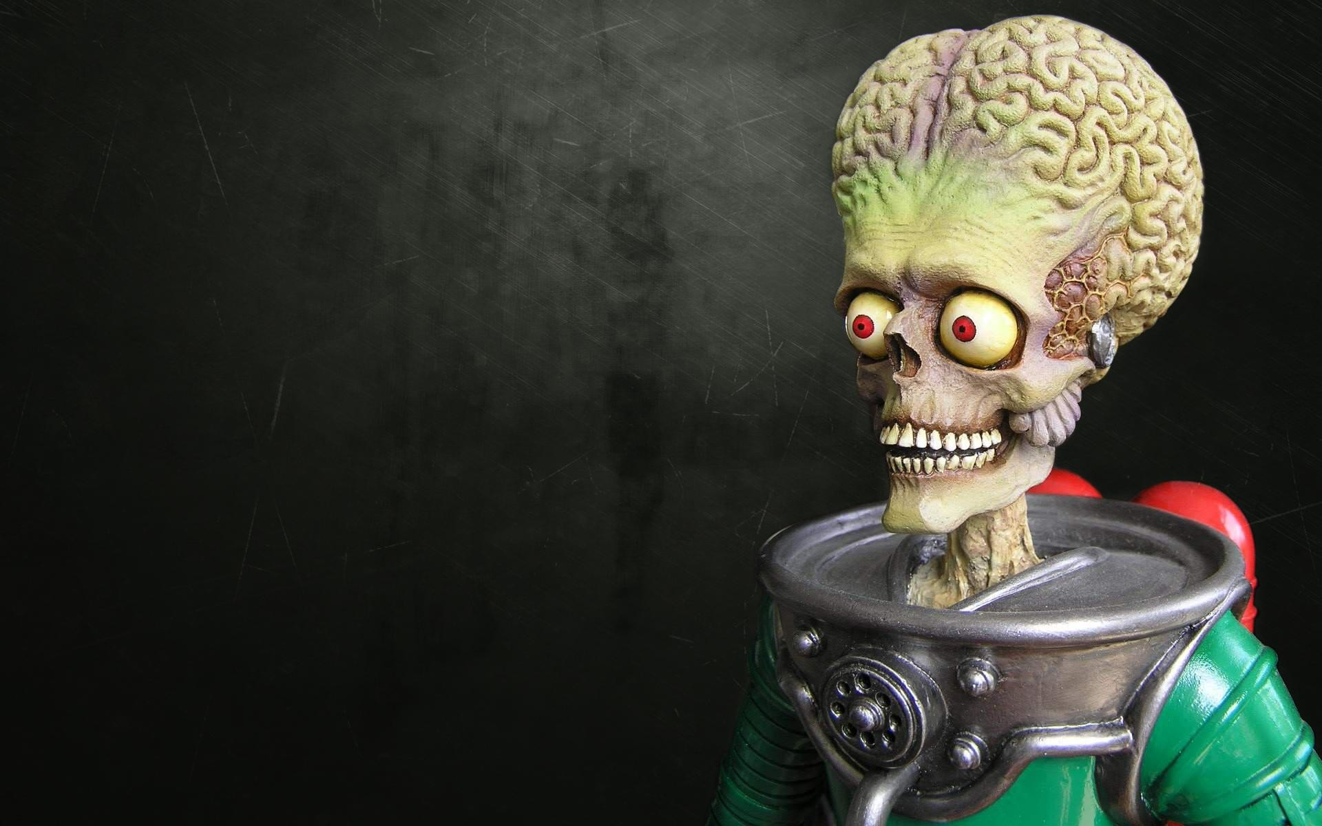 Mars Attacks Sci Fi Alien Creature Monster Skull Eyes Dark Horror Scary  Creepy Spooky Astronaut HD Widescreen