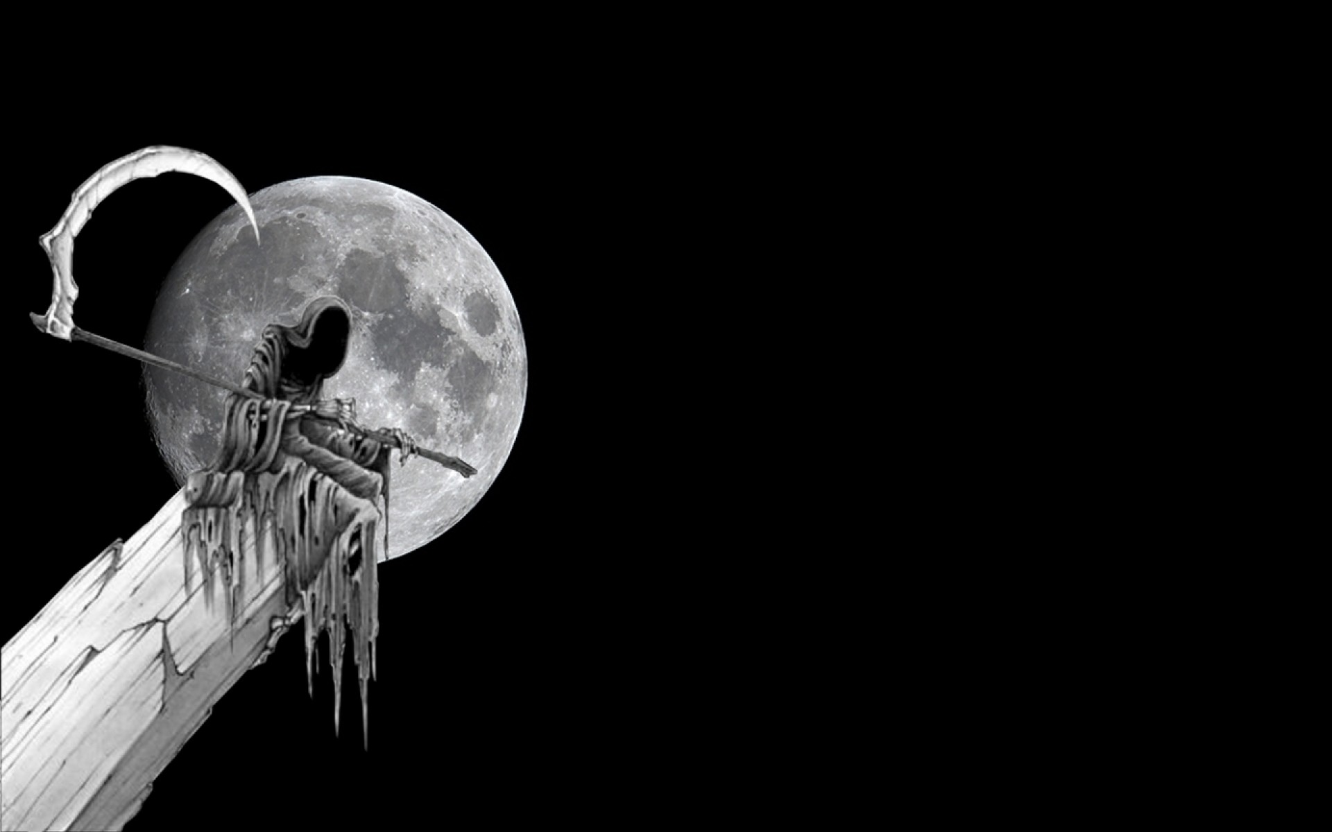 Dark Grim Reaper Horror Skeletons Skull Creepy E Wallpaper At Dark  Wallpapers