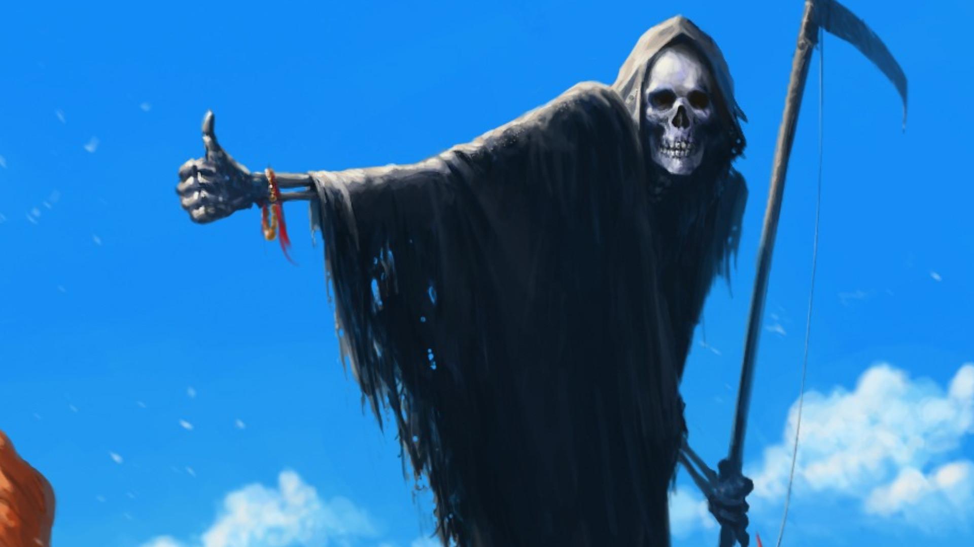 Dark Grim Reaper Horror Skeletons Skull Creepy Wallpaper At Dark Wallpapers