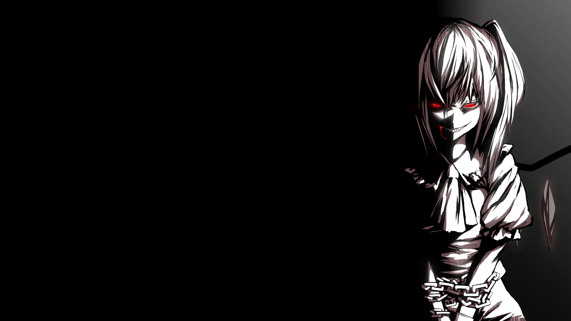 Wallpapers Dark Anime Flandre Scarlet P Oshop Red Eyes Touhou .