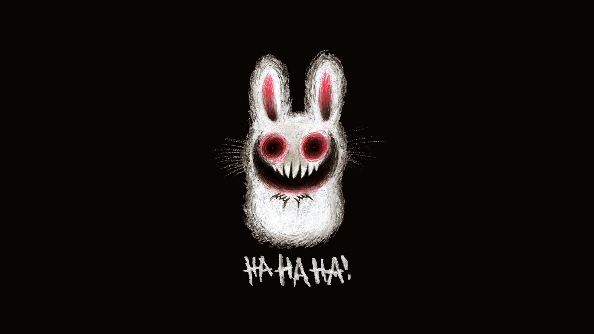 Creepy bunny wallpaper, cute adorable fluffy scary bunny rabbit .