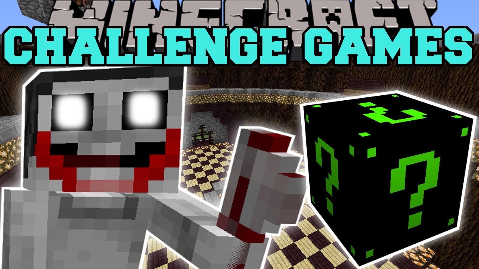 Minecraft: JEFF THE KILLER CHALLENGE GAMES – Lucky Block Mod – Modded  Mini-Game