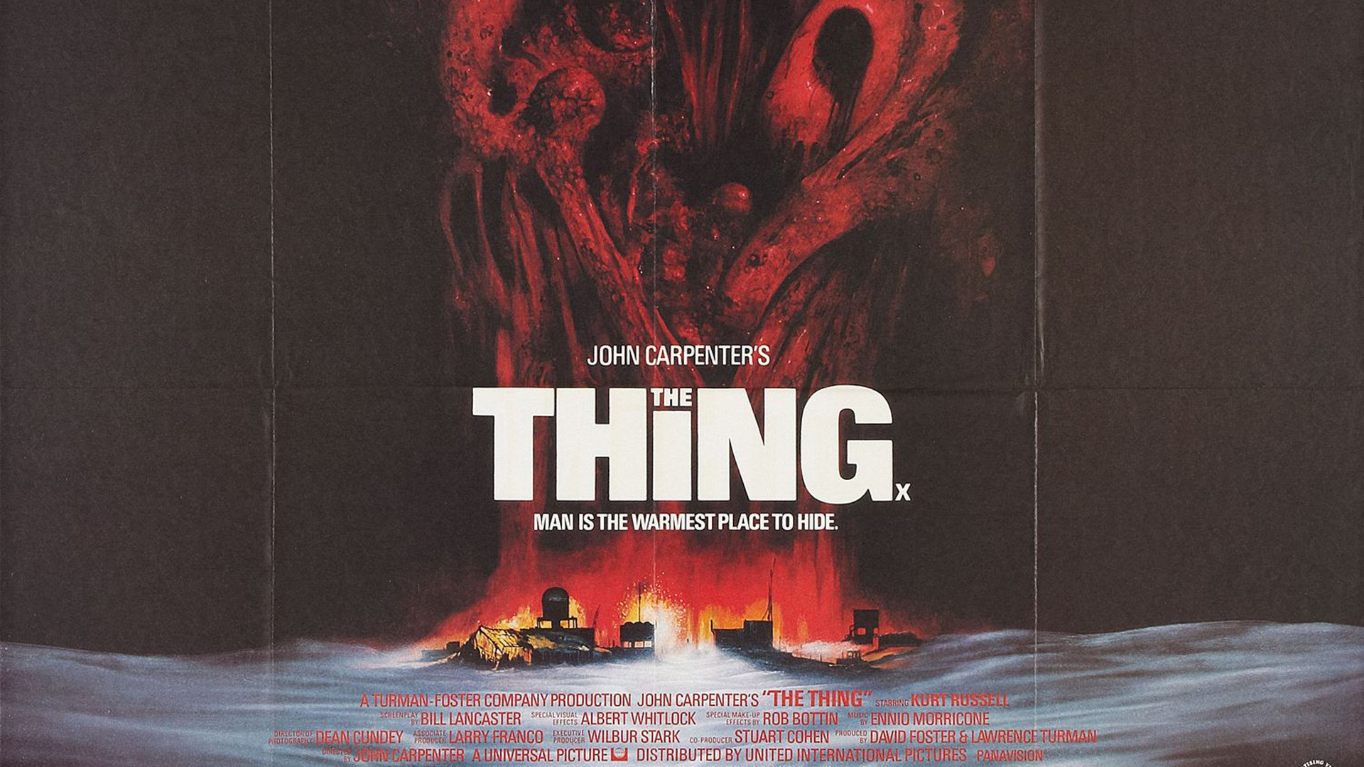 John Carpenter The Thing Movie #poster 1982 Horror film with nod to H.P.  Lovecraft's Cthulhu