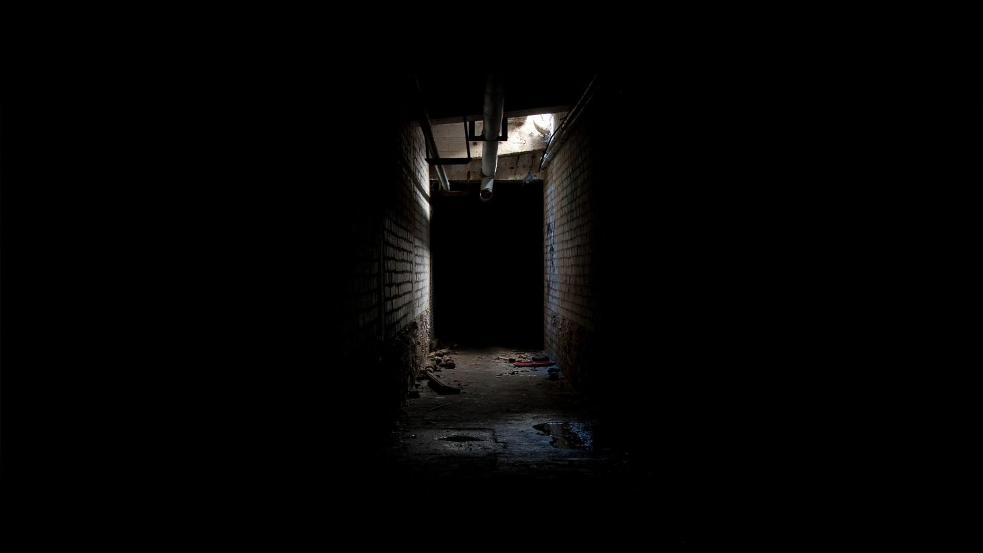 Creepy Corridor Hallway Black dark creepy wallpaper   .