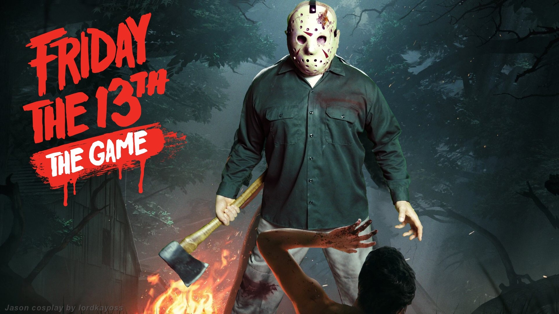Played around with the main image from the upcoming Friday the 13th The  Game. Matched Jason Voorhees' main pose with my Jason IV costume and  shopped it into …