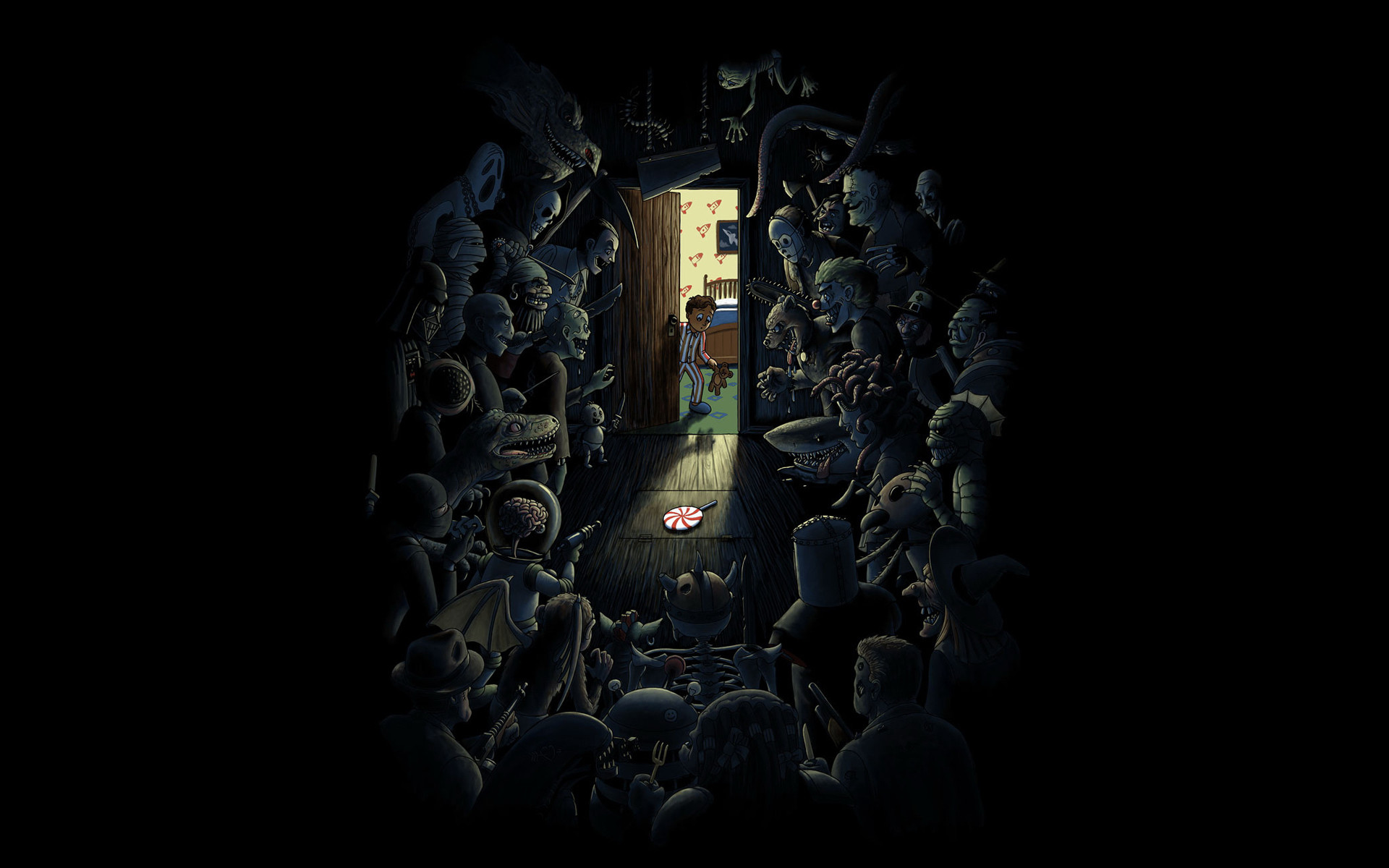 Dark – Scary Comics Child Monster Wallpaper