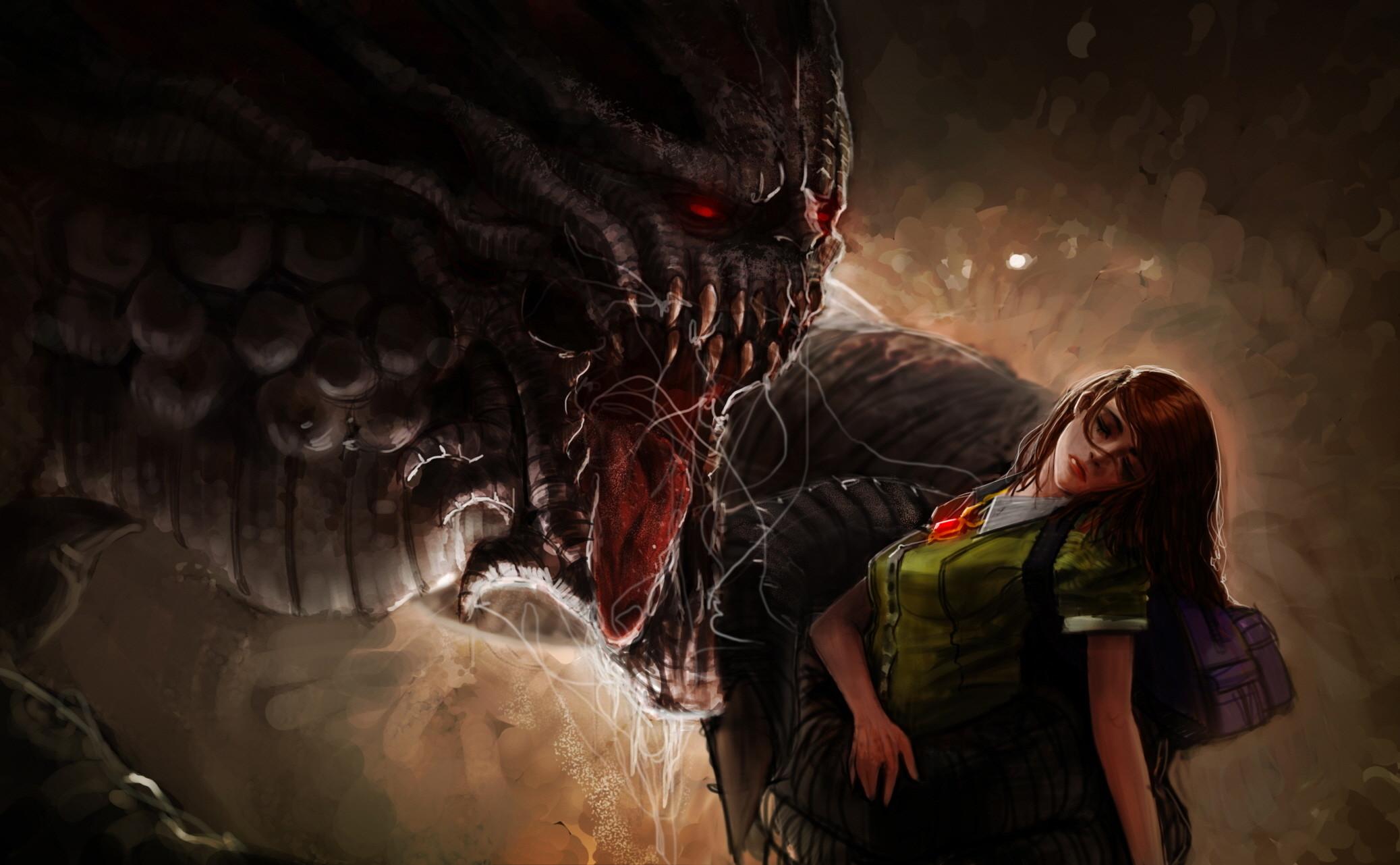 Monsters Fantasy Girls Monster Scary Horror Girl Dark Wallpaper At Dark  Wallpapers