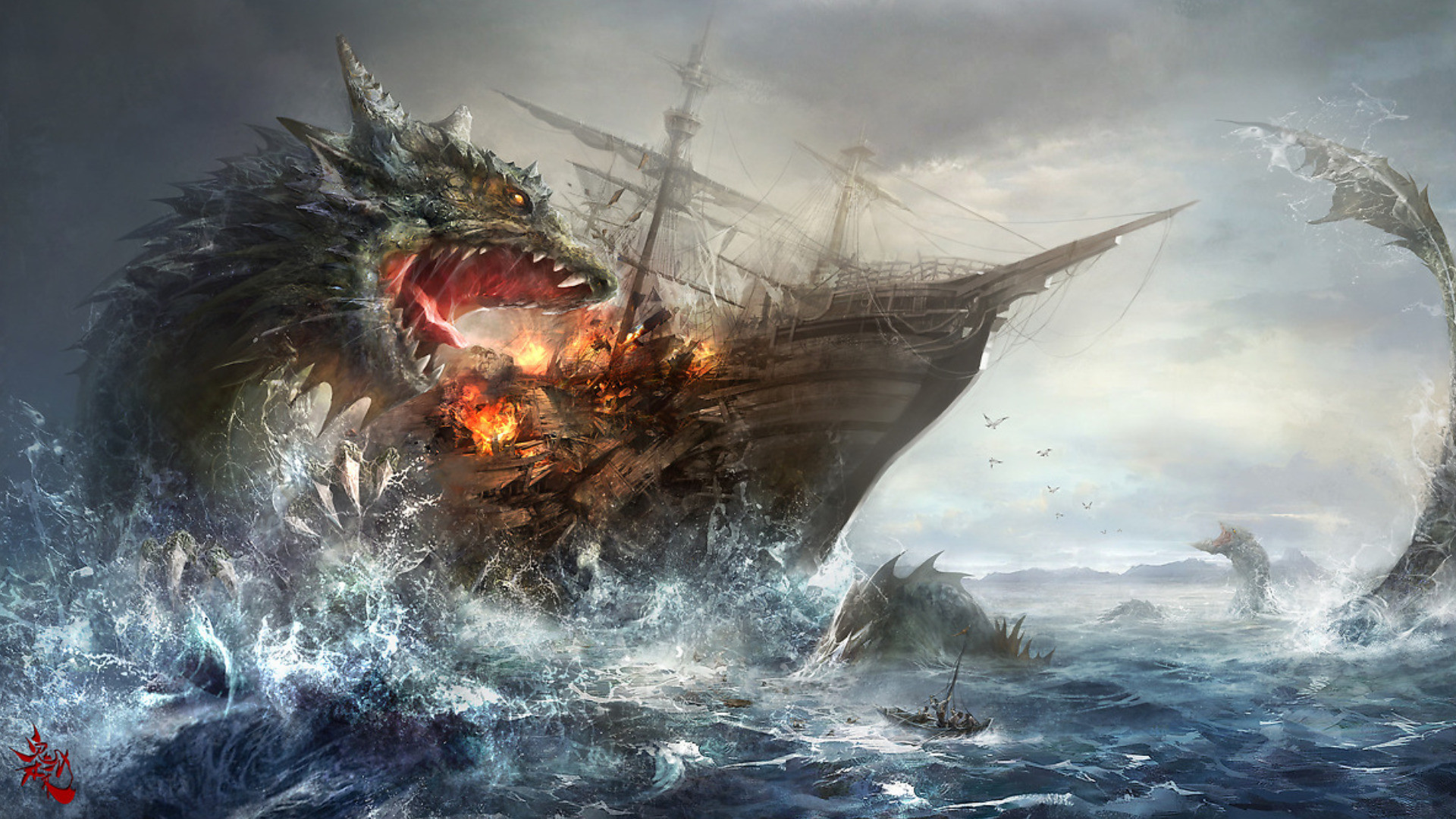 Scary Sea Monster Wallpapers