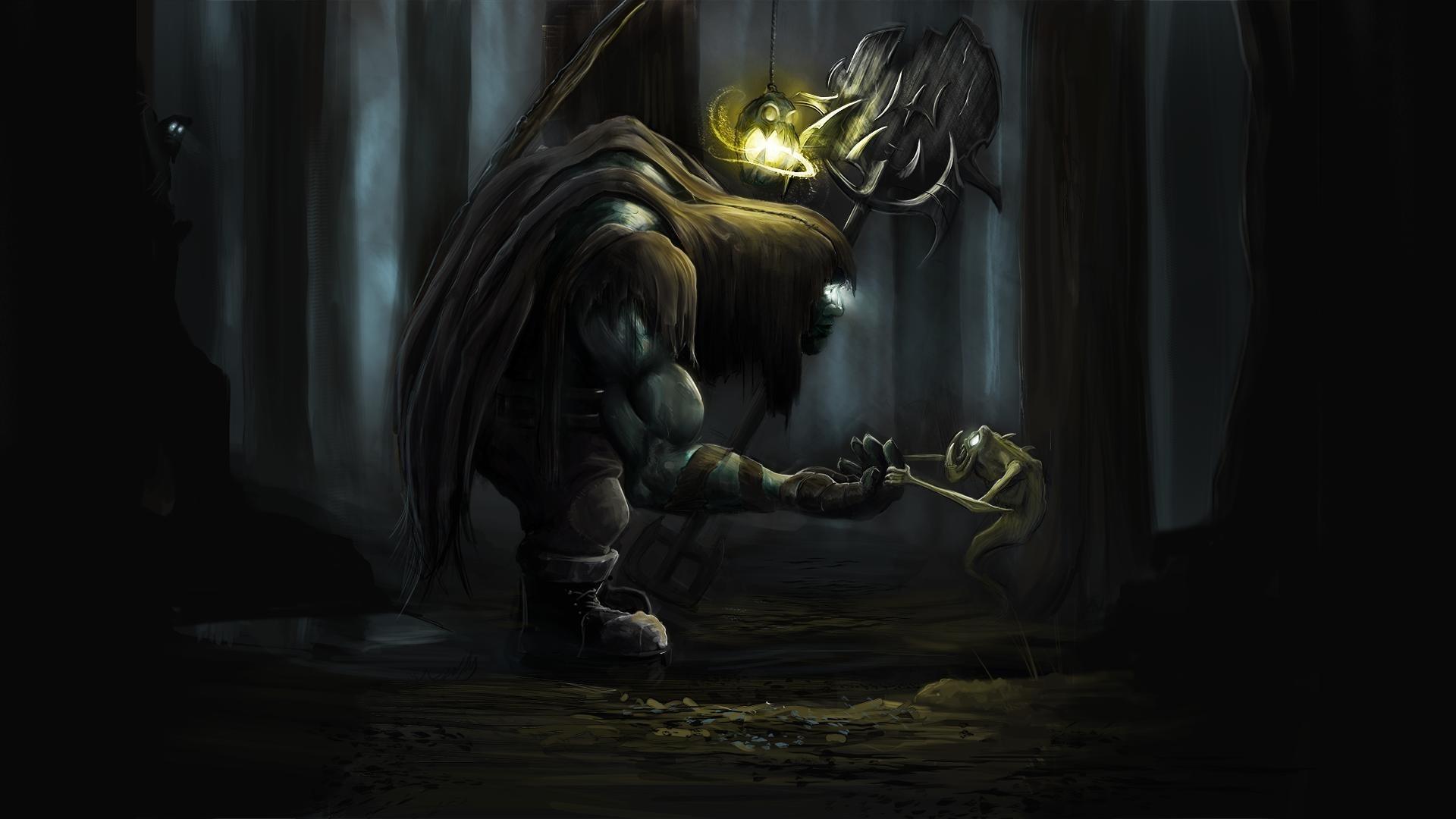 dark creatures   Yorick League of Legends fantasy dark monsters creatures  scary trees .