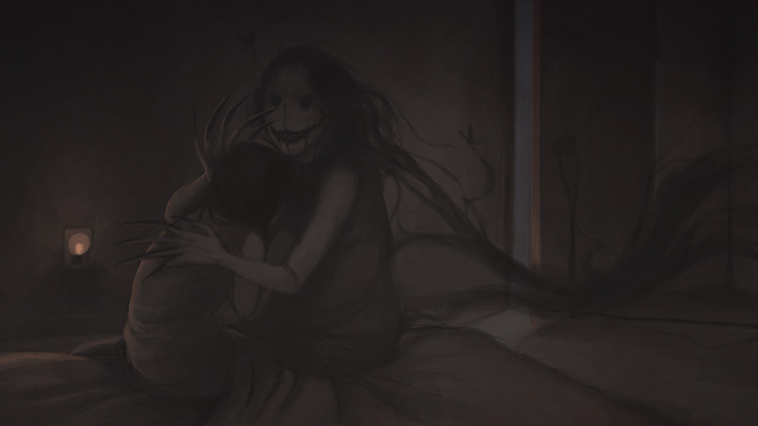 … Creepy monster from the closet HD Wallpaper 2560×1440