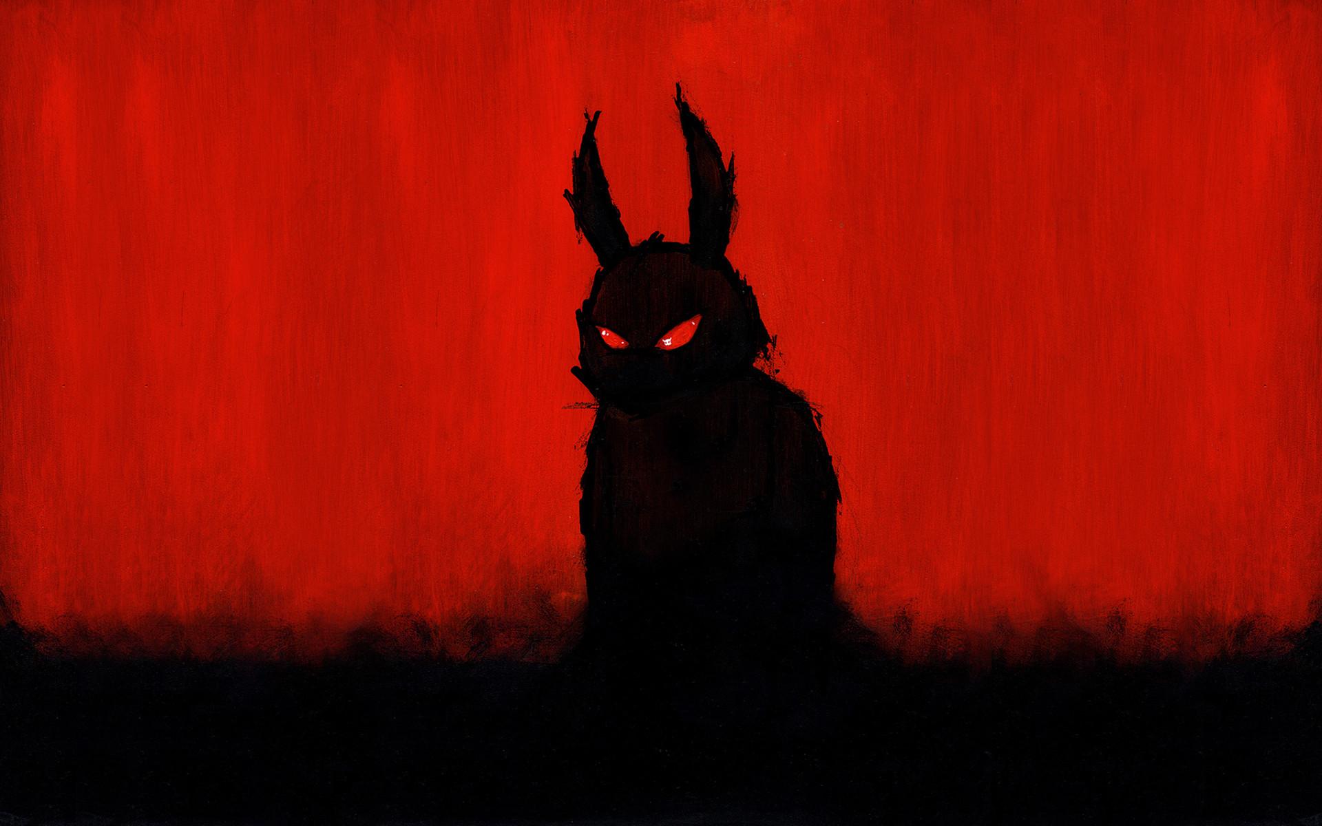 Evil Red Drawing Creepy Monster Rabbit Halloween Wallpaper At Dark  Wallpapers